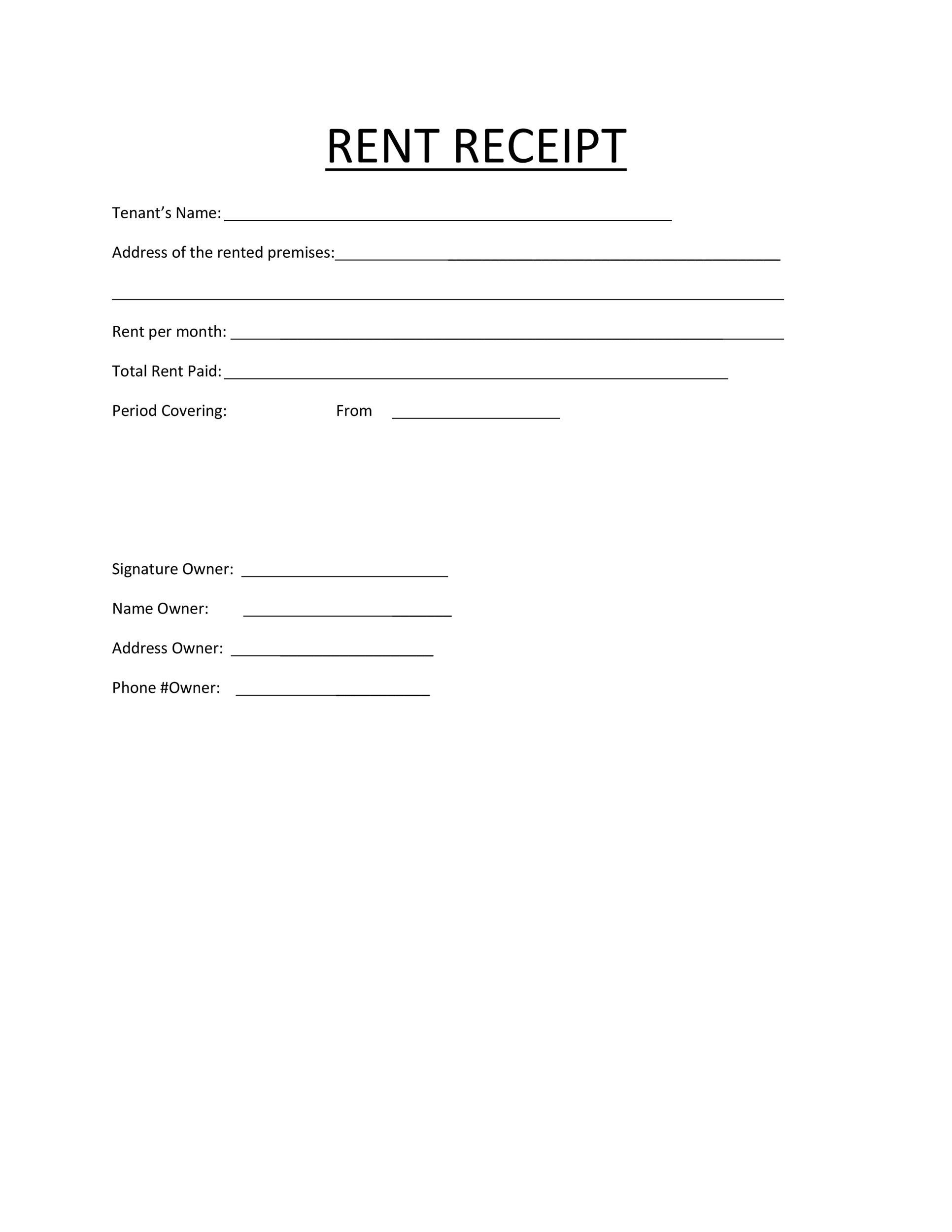 graphic regarding Printable Rent Receipts called 49 Printable Lease Receipts (Cost-free Templates) ᐅ Template Lab