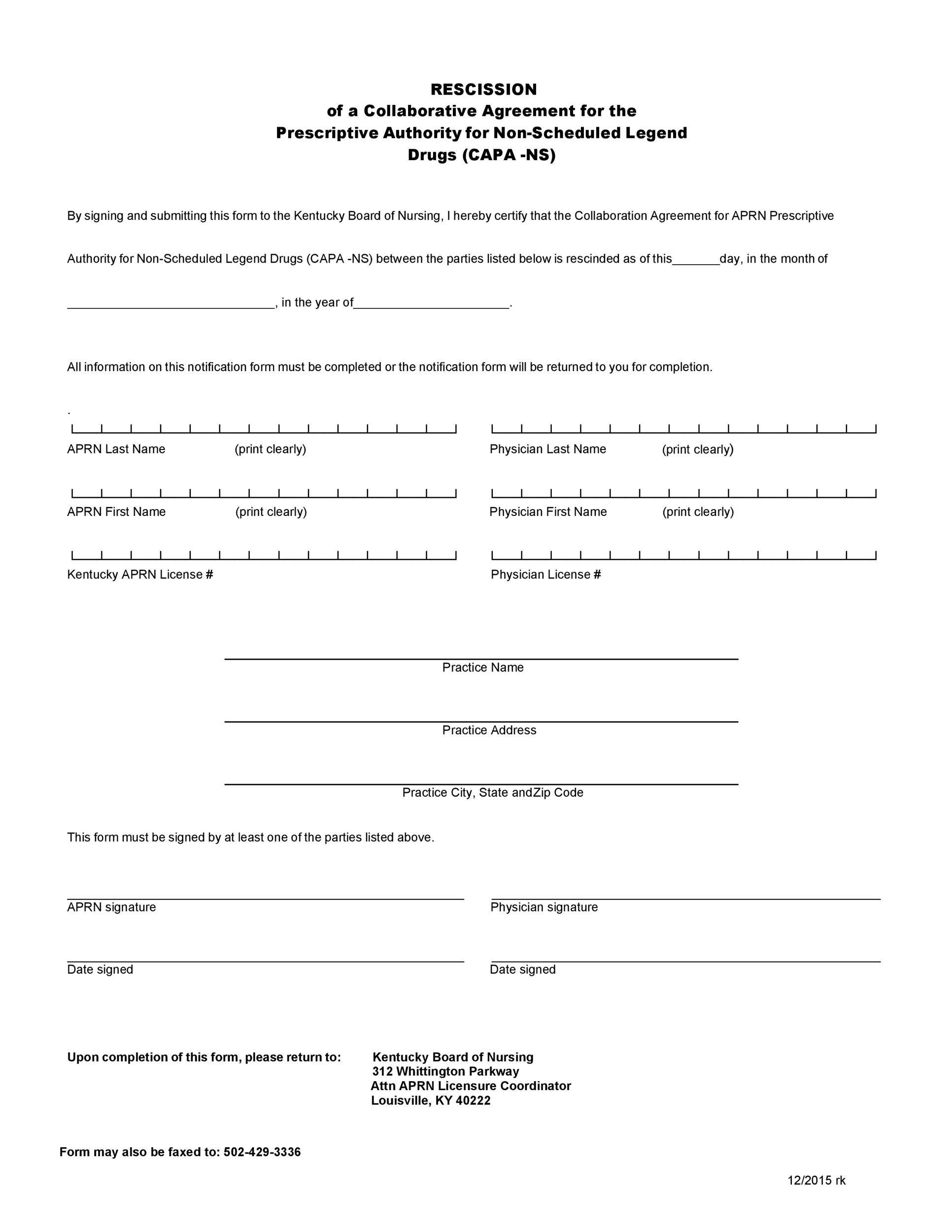 Free rescission agreement 12