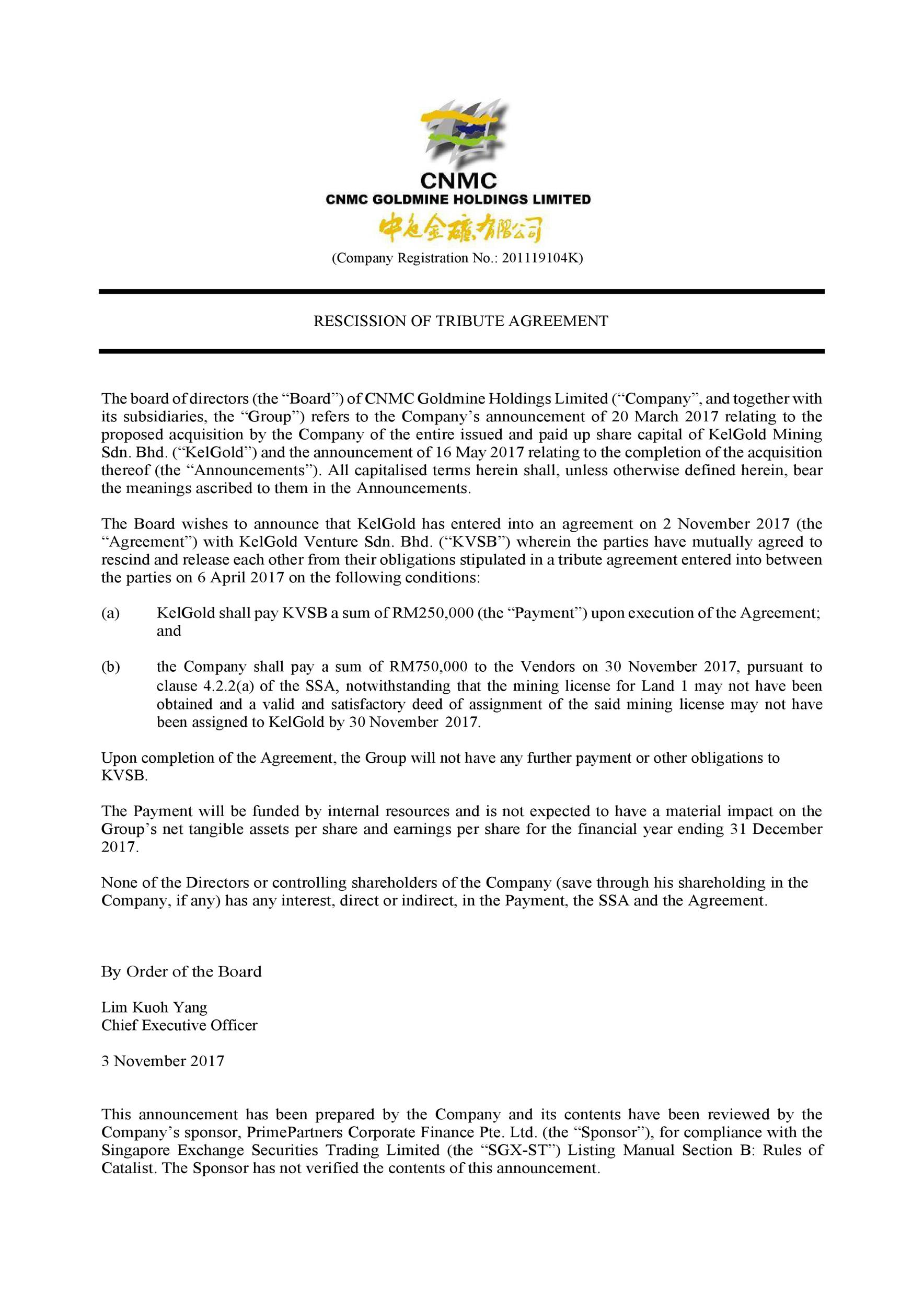 Free rescission agreement 19