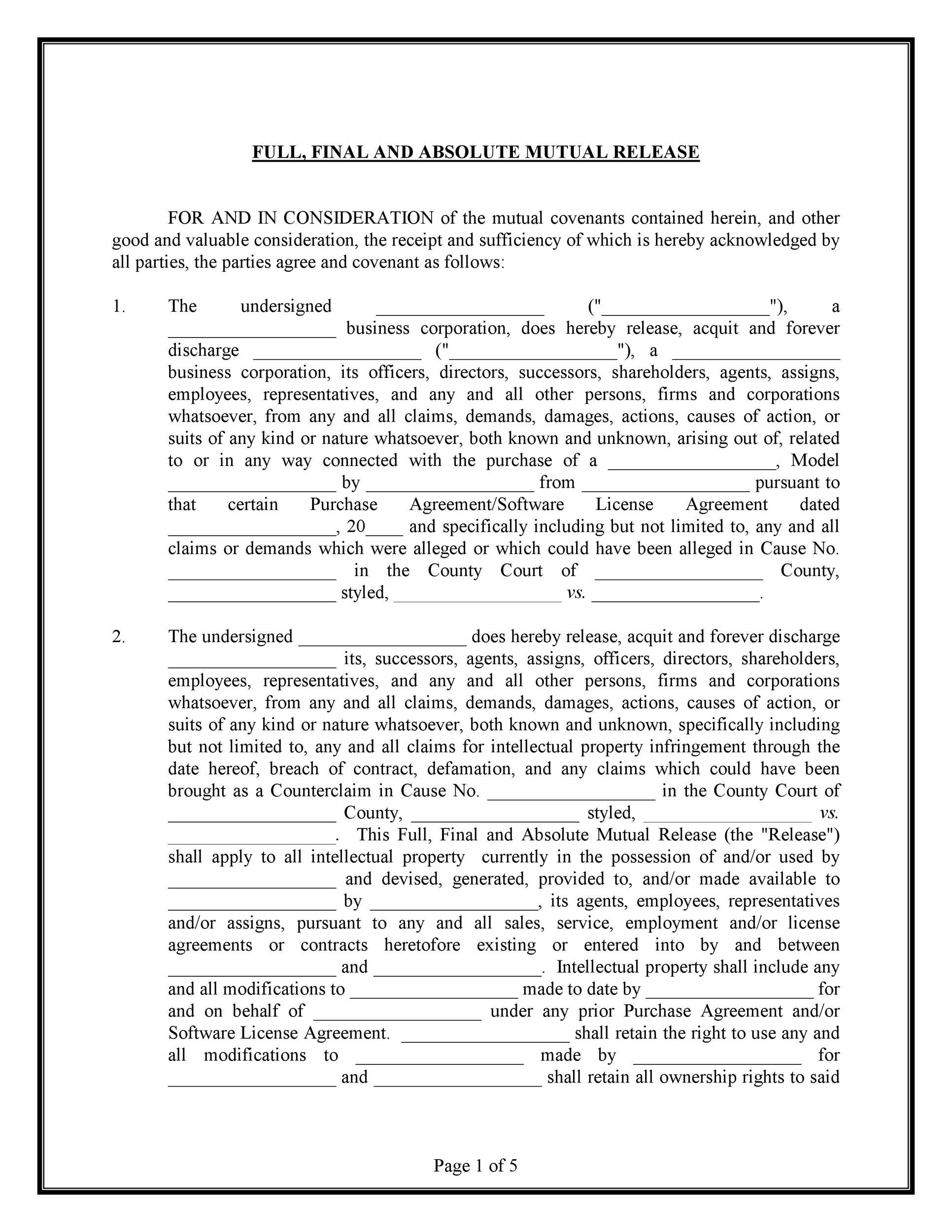 Free rescission agreement 28