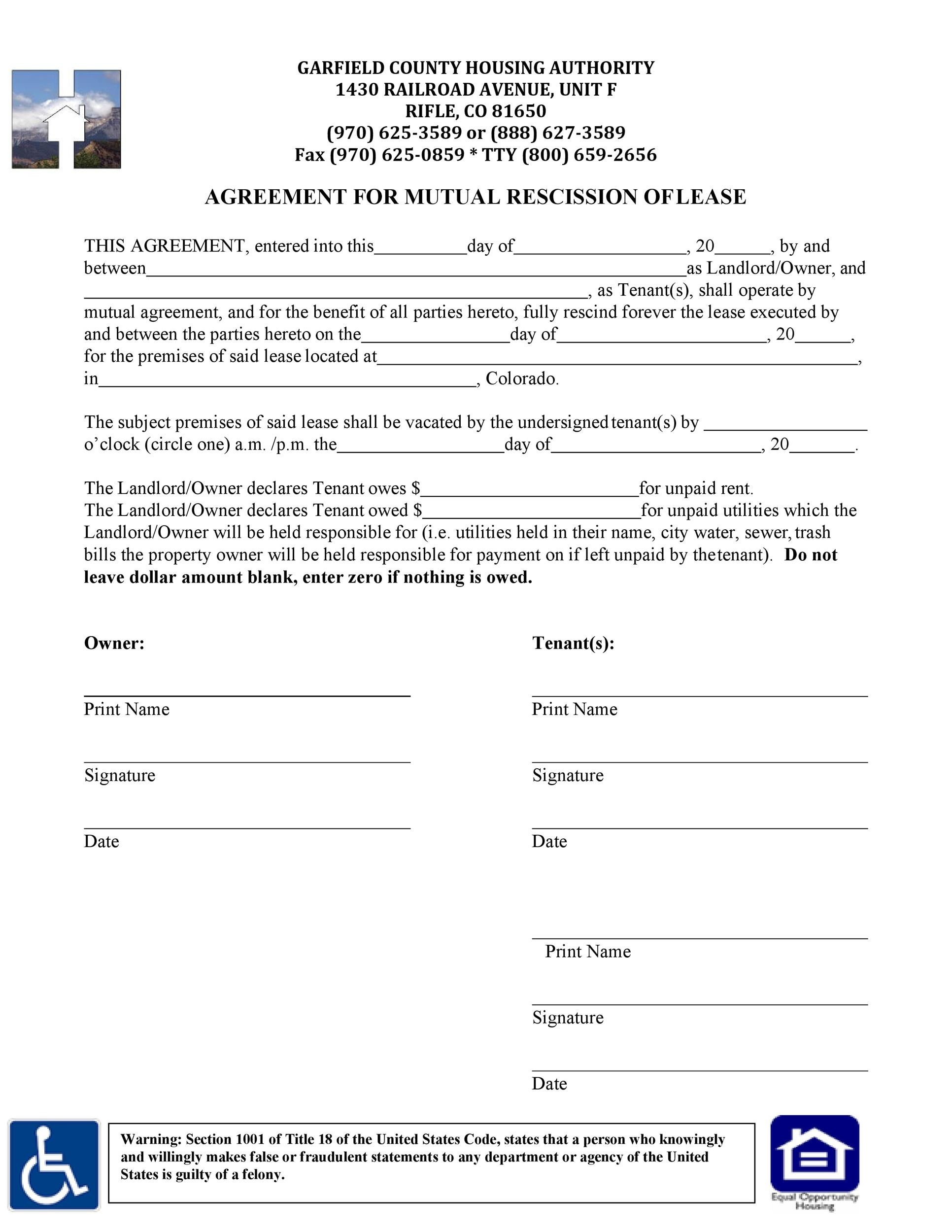 Free rescission agreement 36
