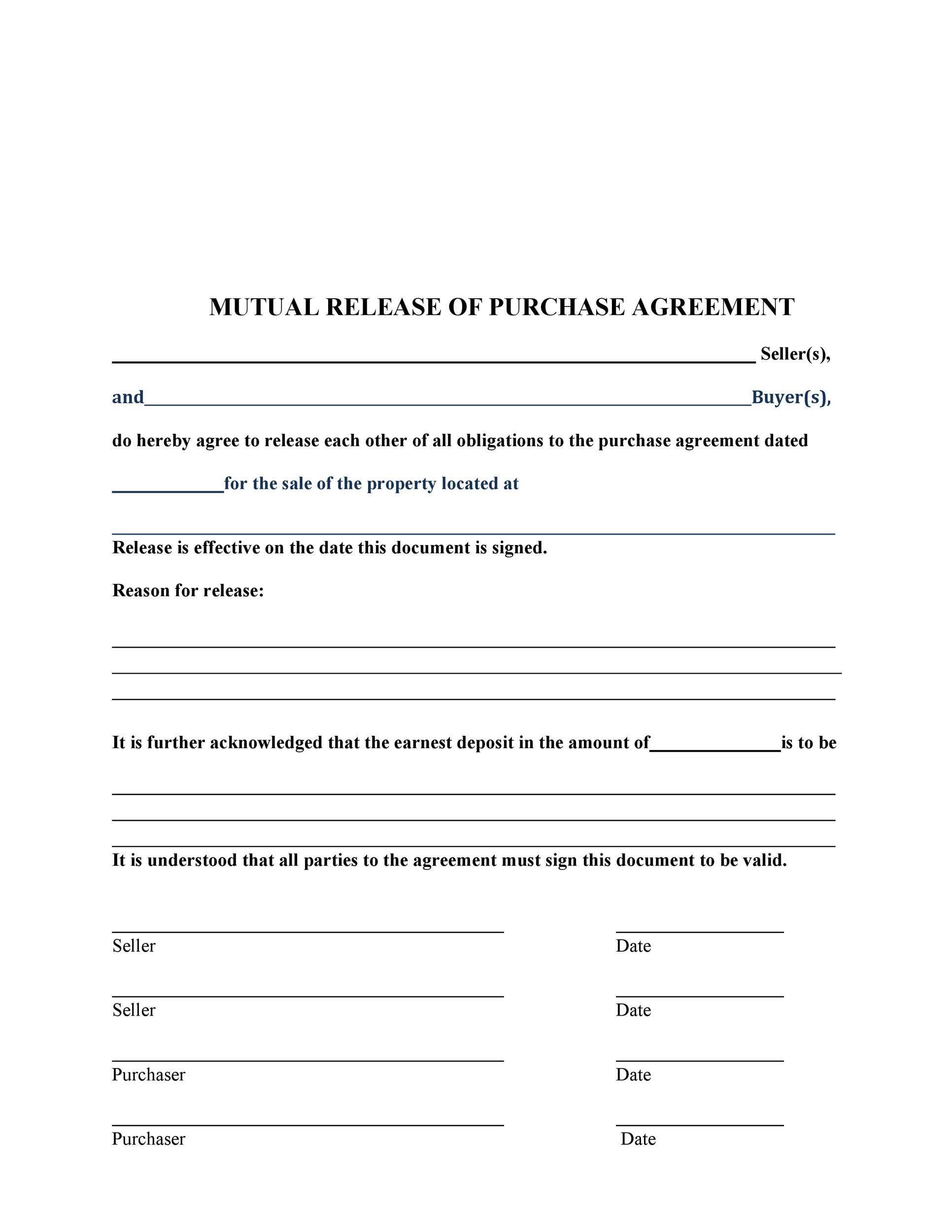 Free rescission agreement 41