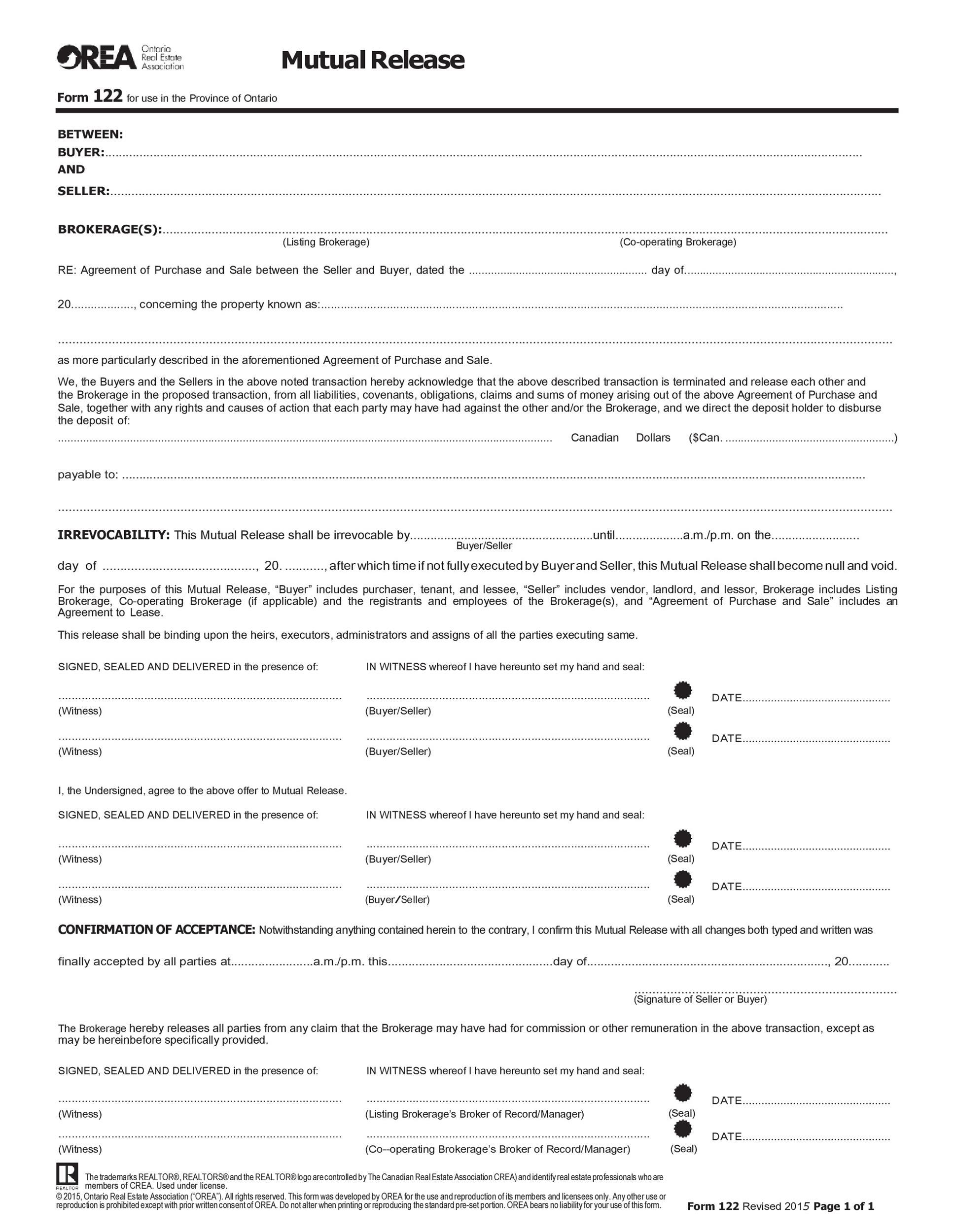 Free rescission agreement 42