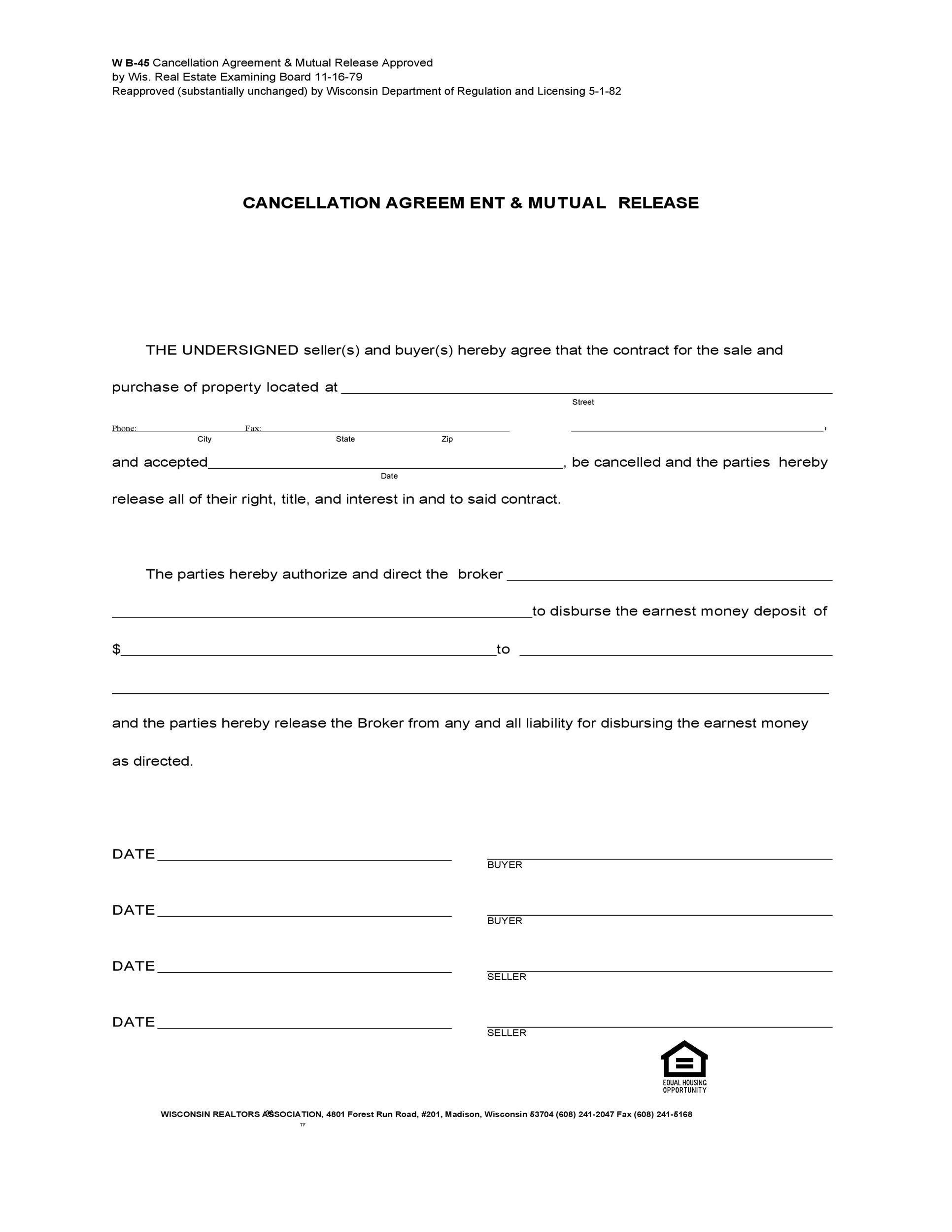 Free rescission agreement 45