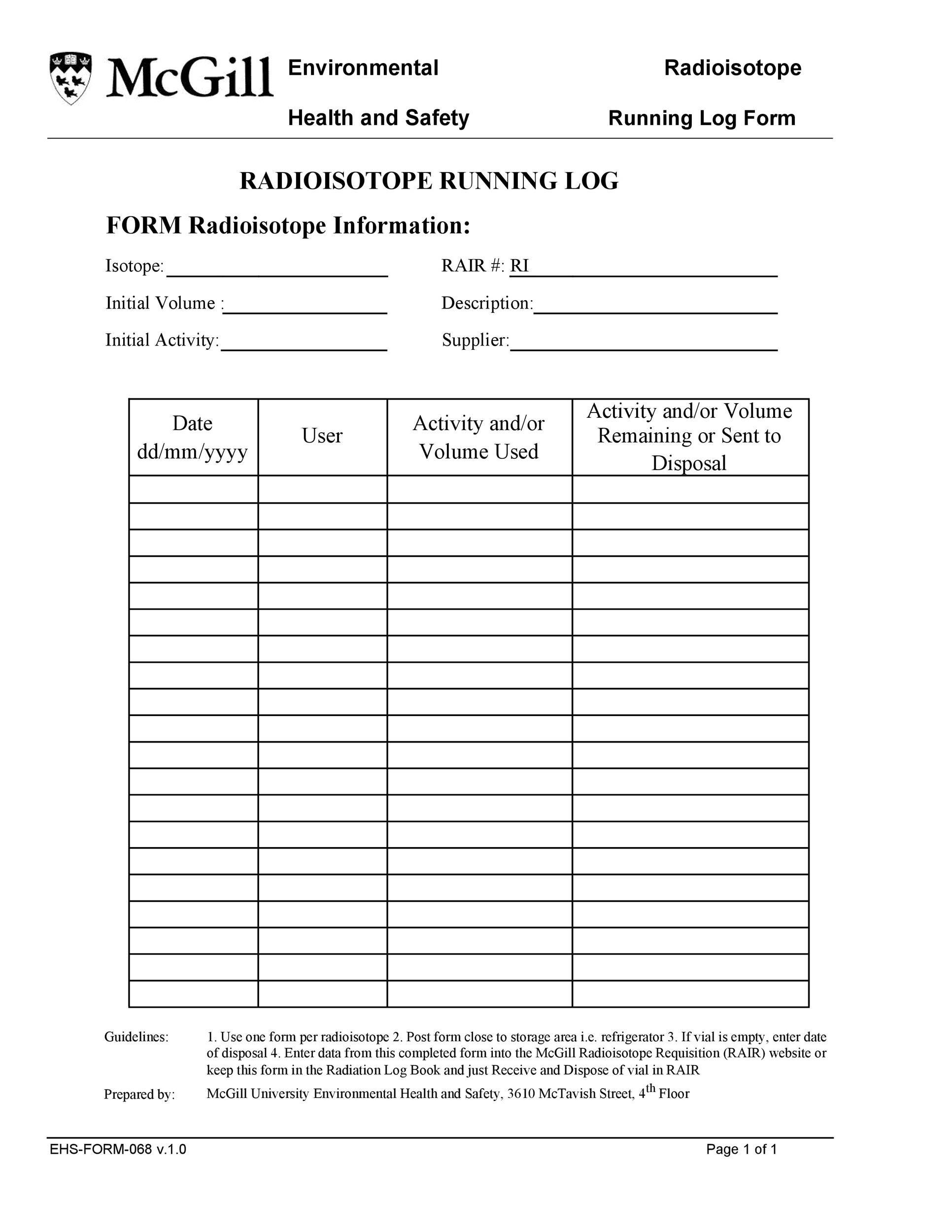 Free running log 09