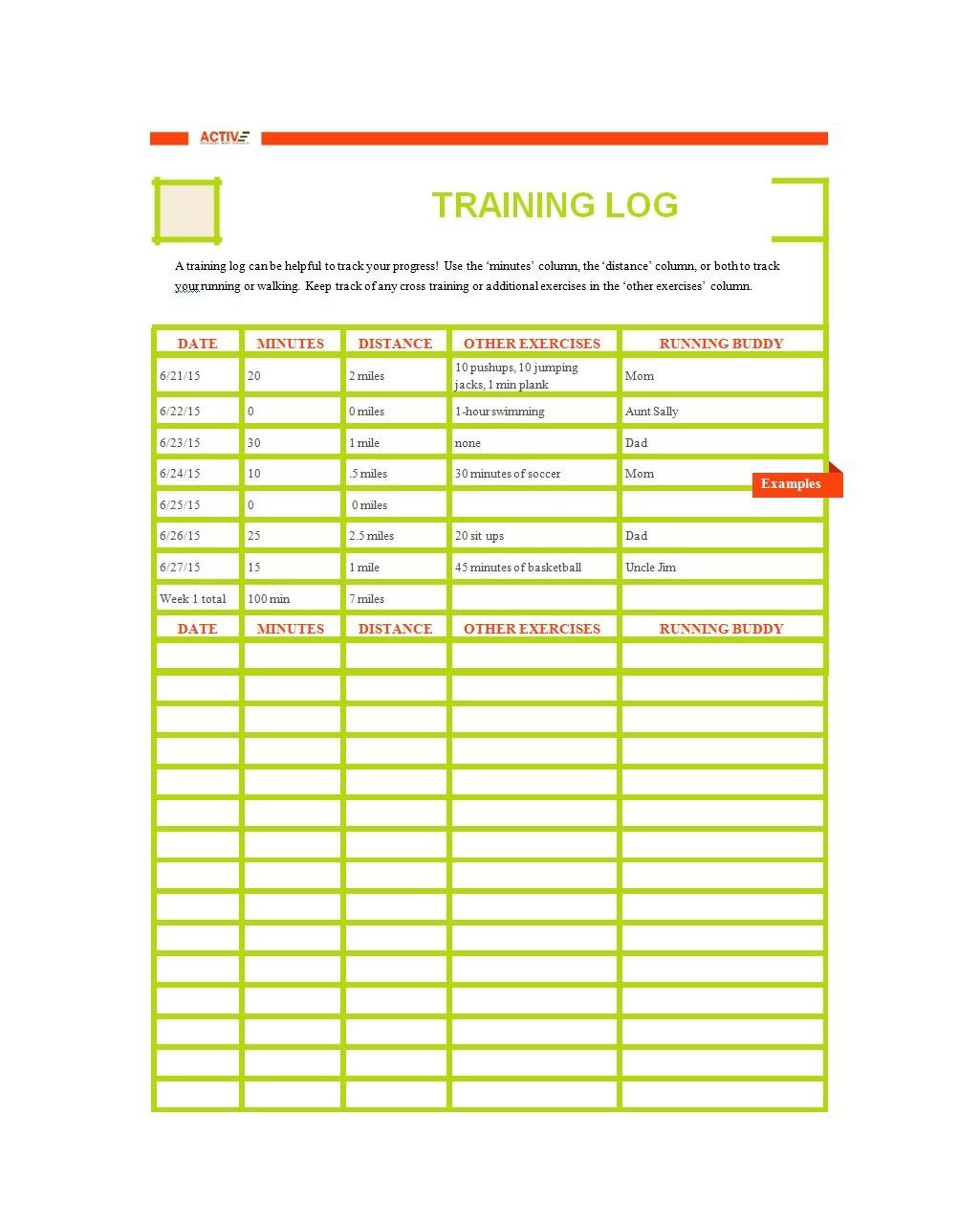 Free running log 30