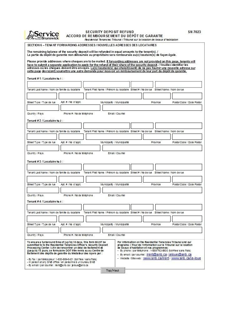 Free security deposit return letter 12
