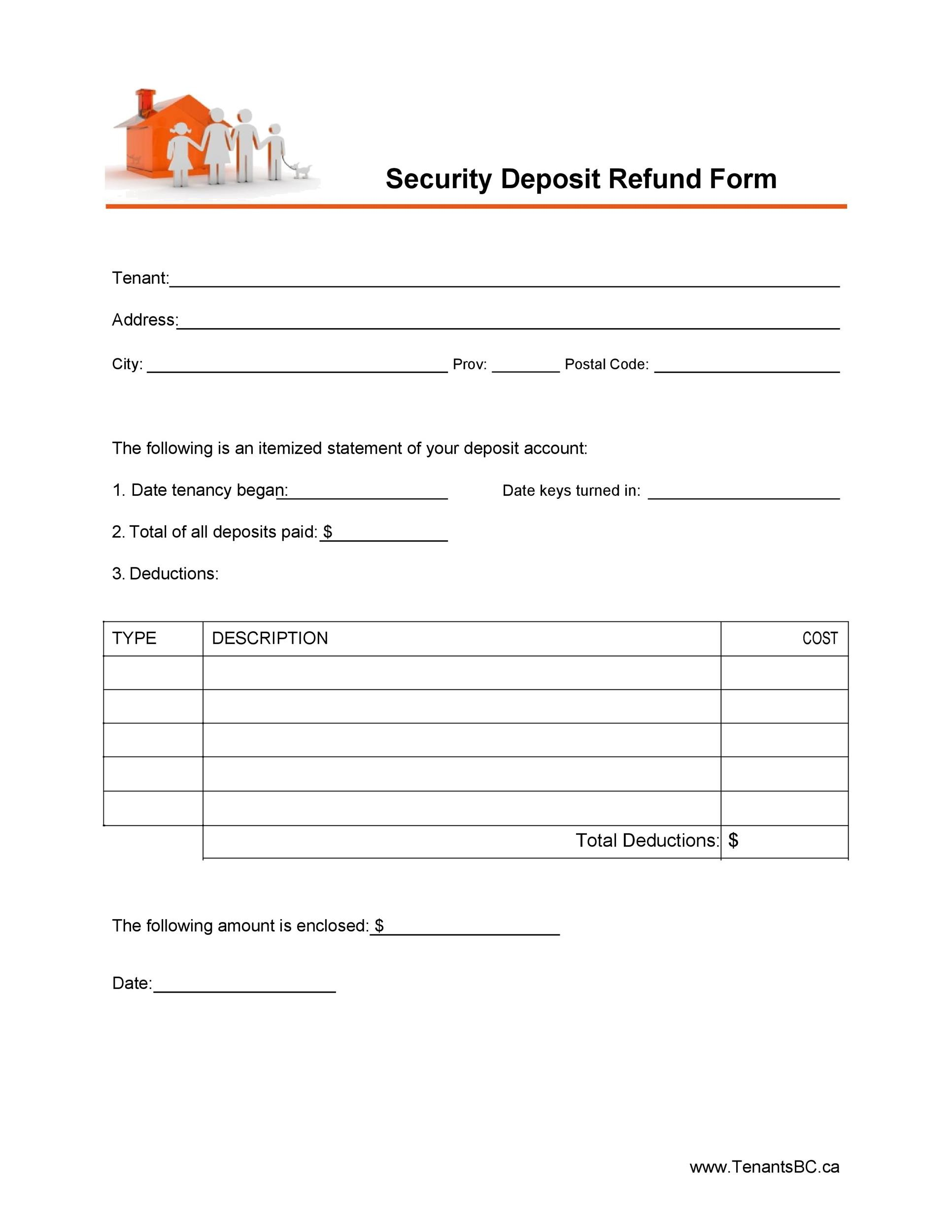 Free security deposit return letter 26