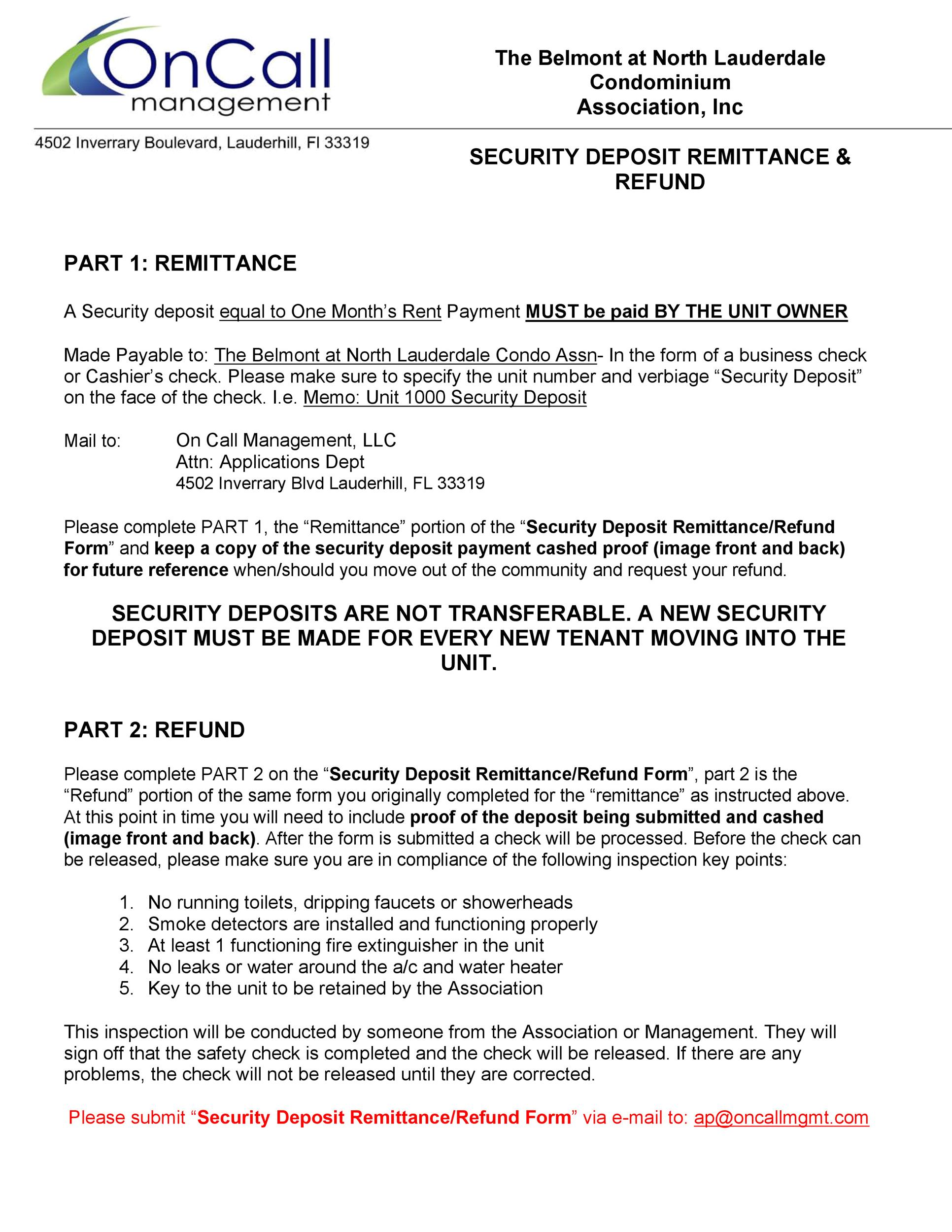 50 Effective Security Deposit Return Letters [MS Word] ᐅ