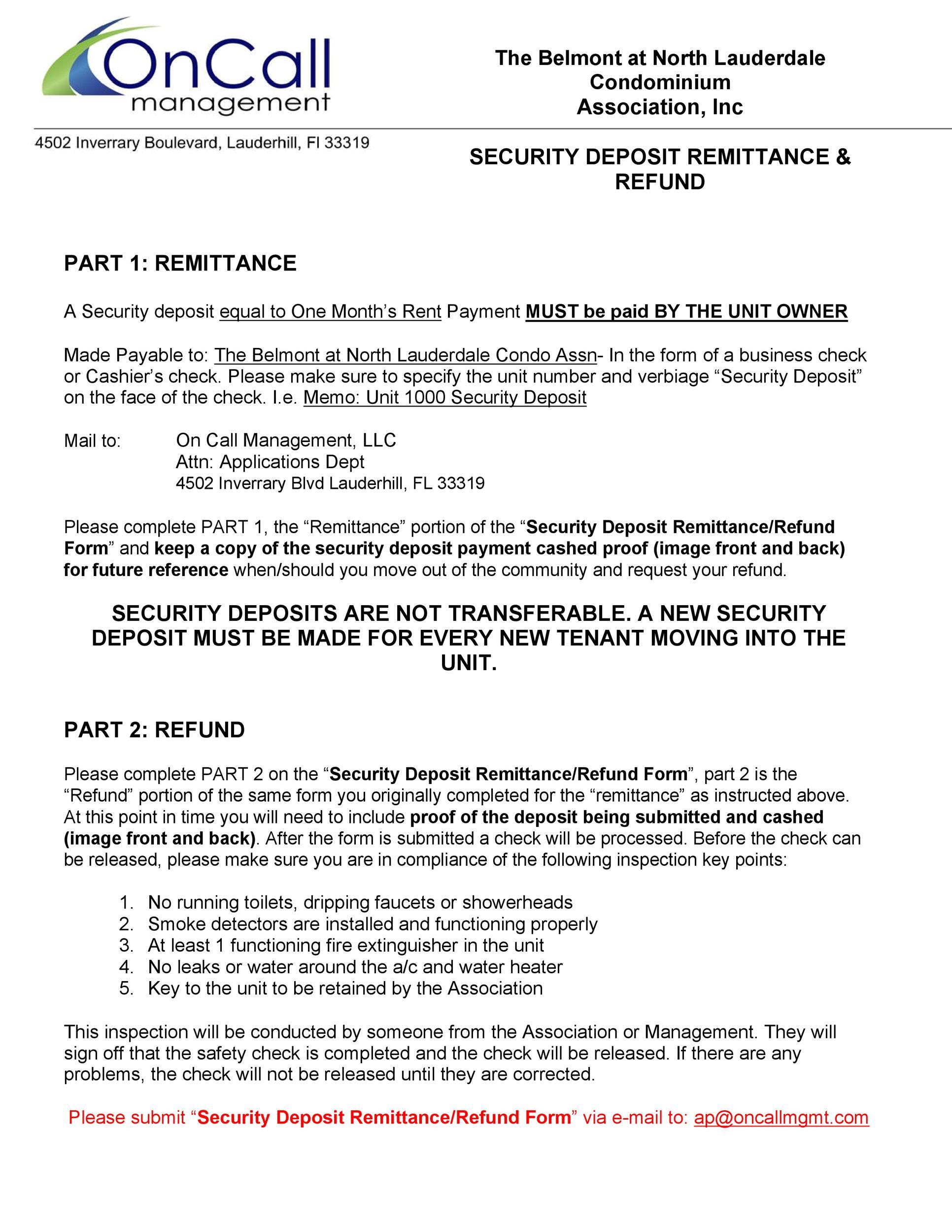 Free security deposit return letter 33