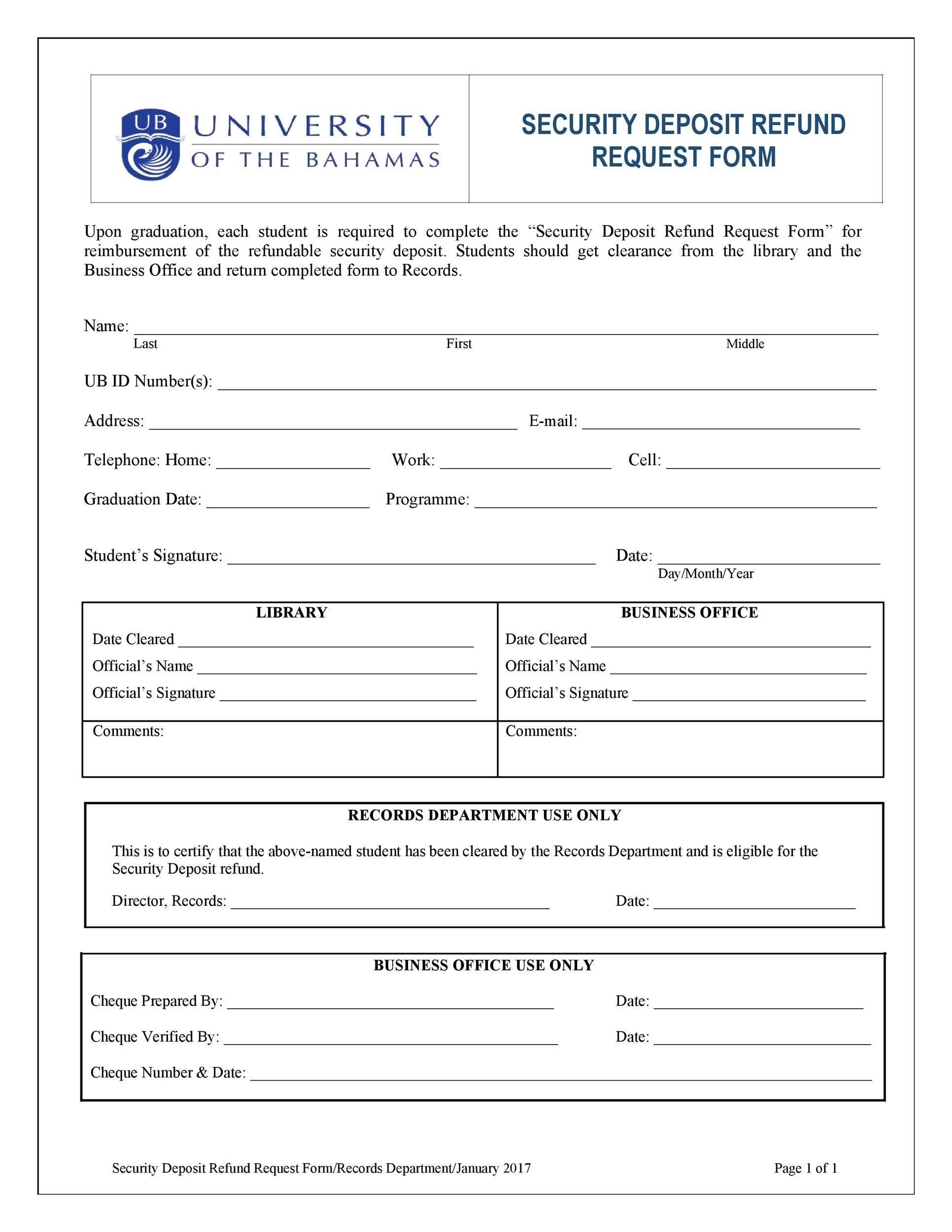 Free security deposit return letter 34