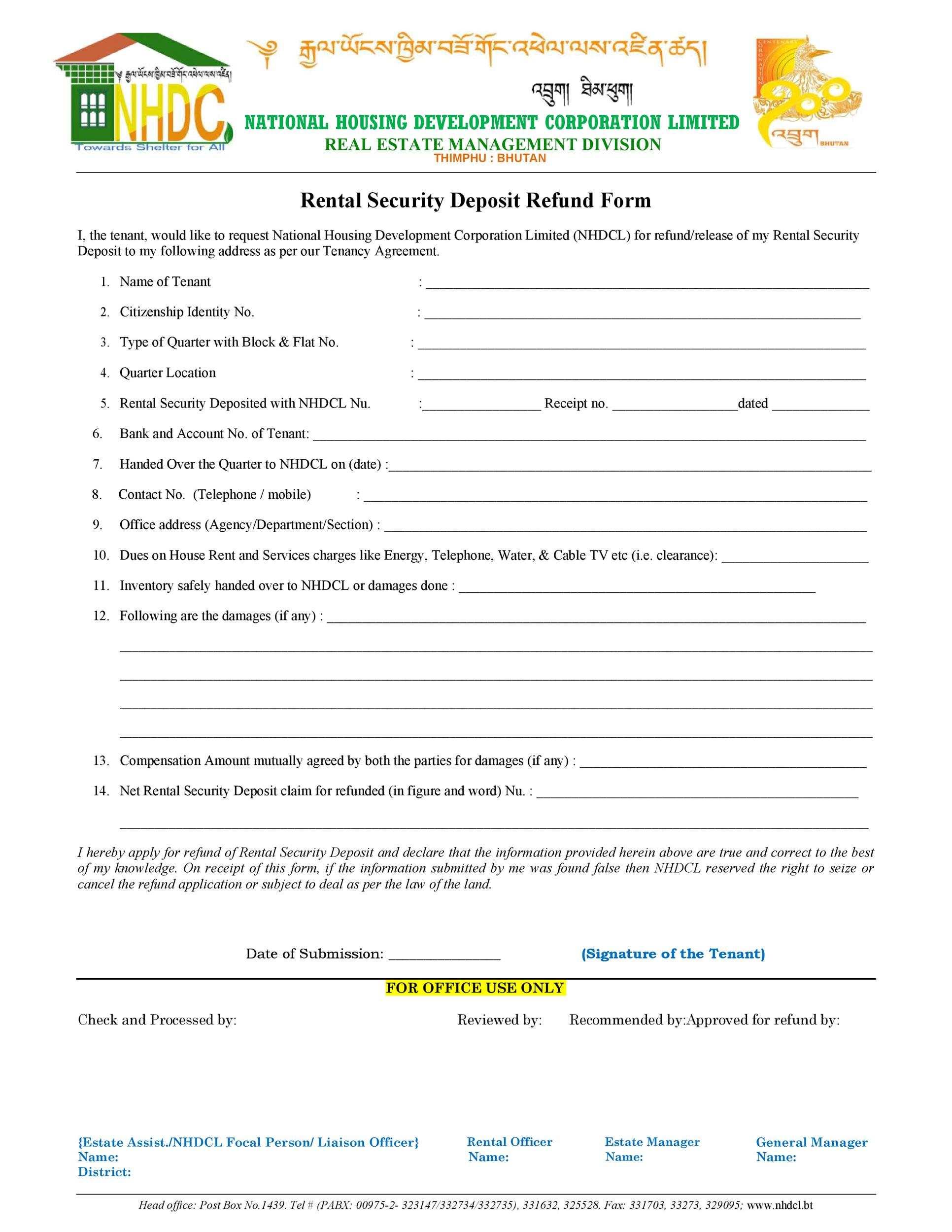 Free security deposit return letter 37