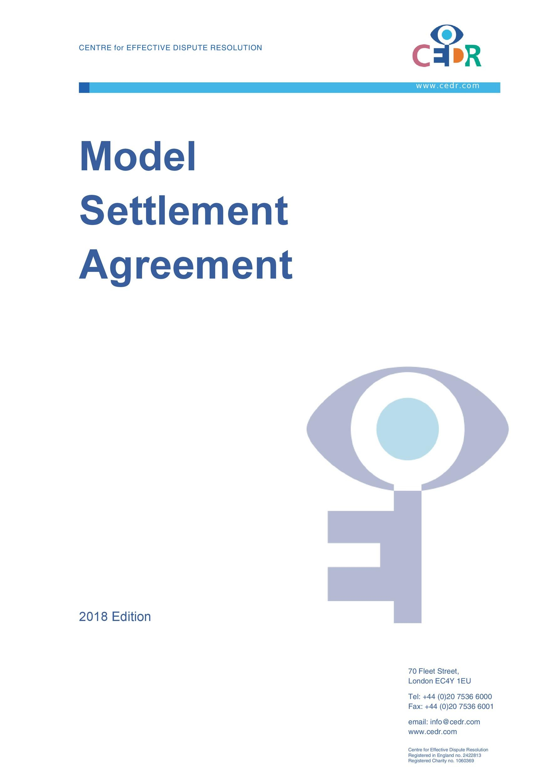 Free settlement agreement 13