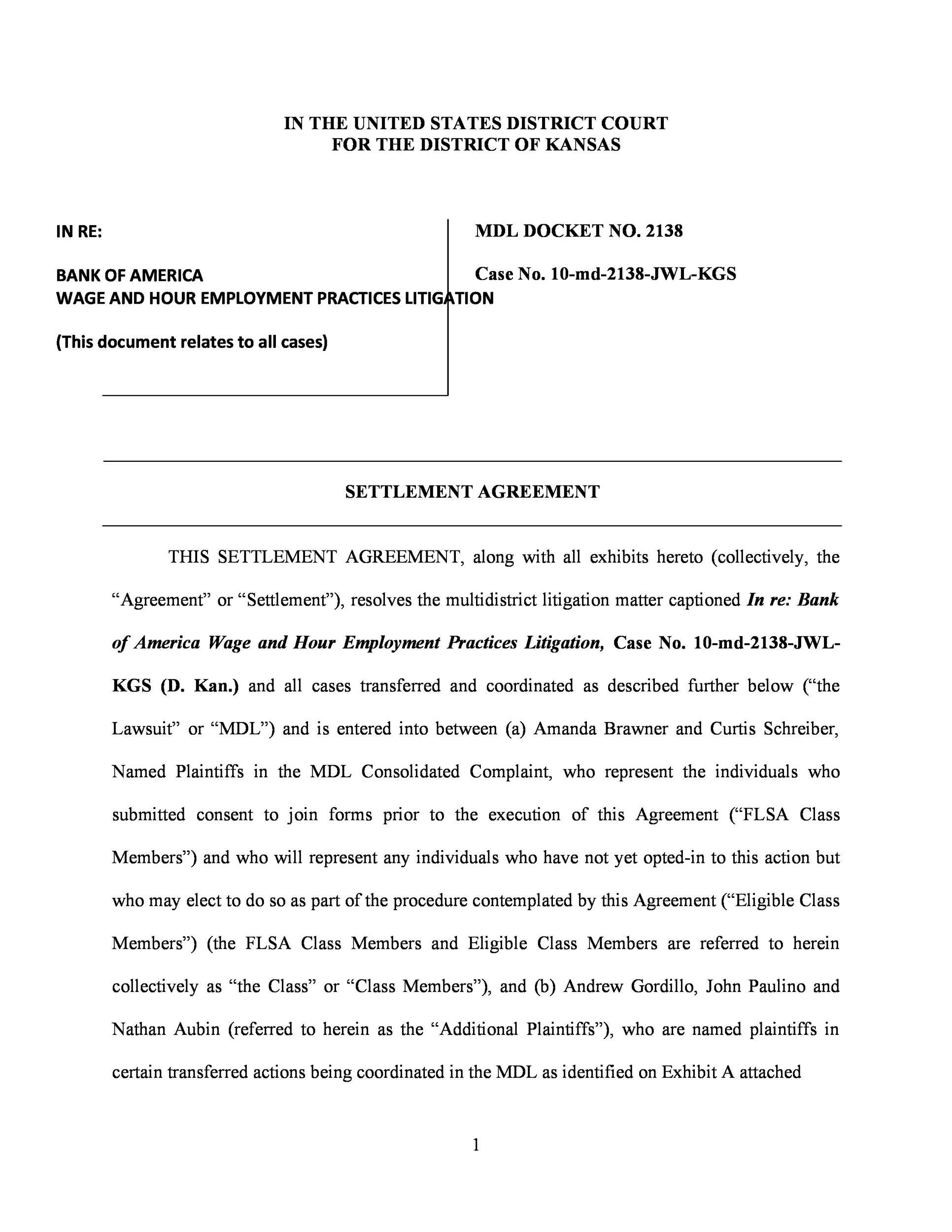 Free settlement agreement 14