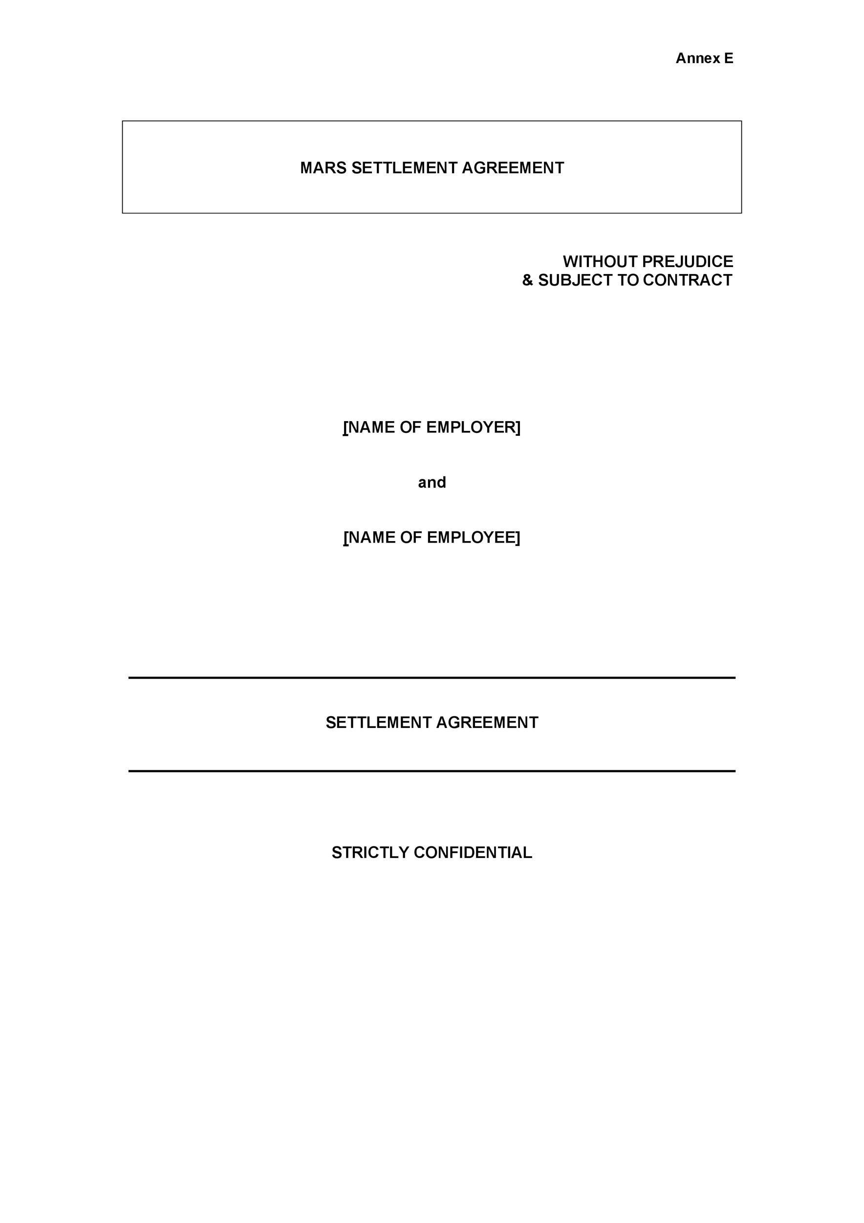 Free settlement agreement 27