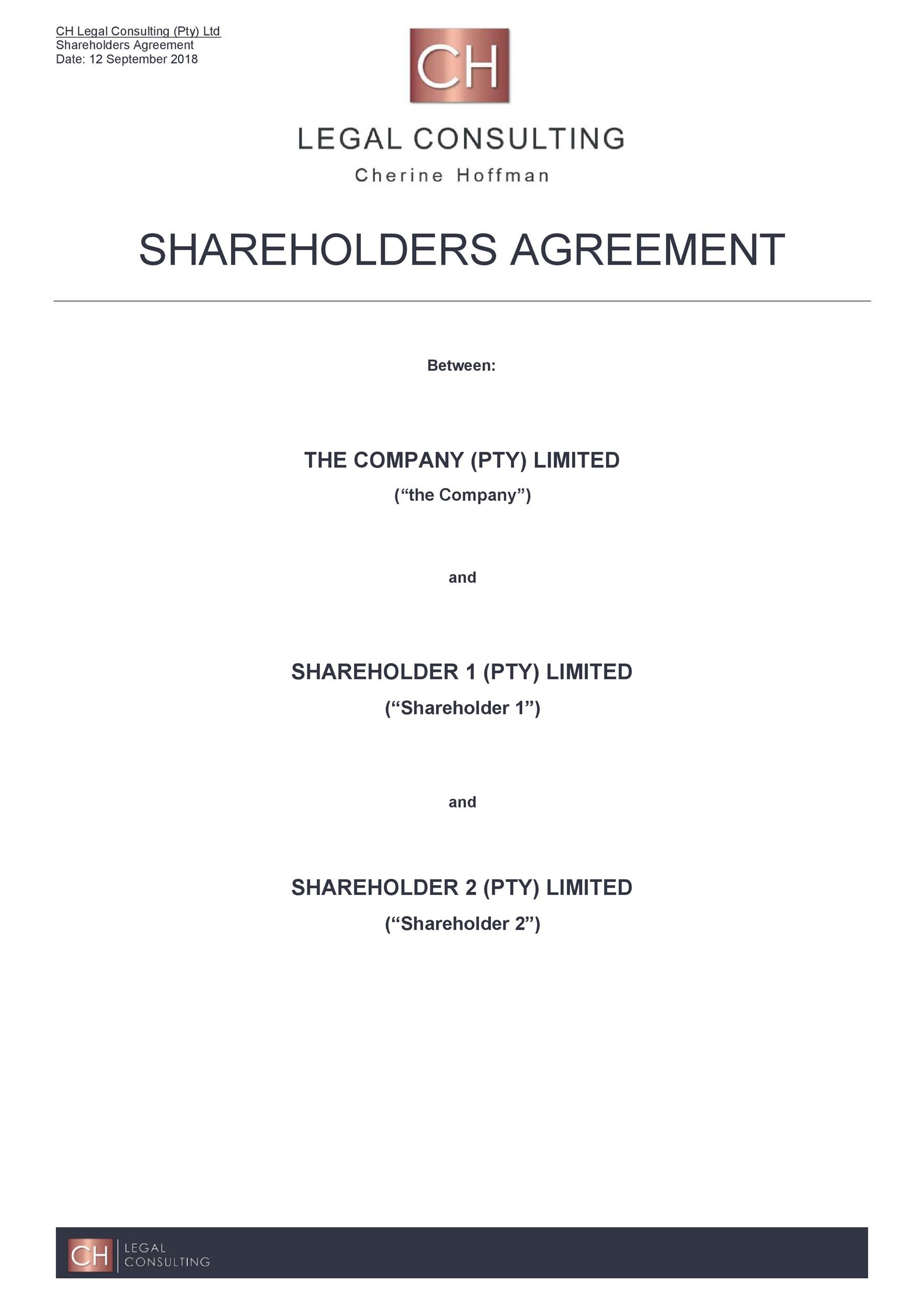 Simple Shareholder Agreement Template from templatelab.com