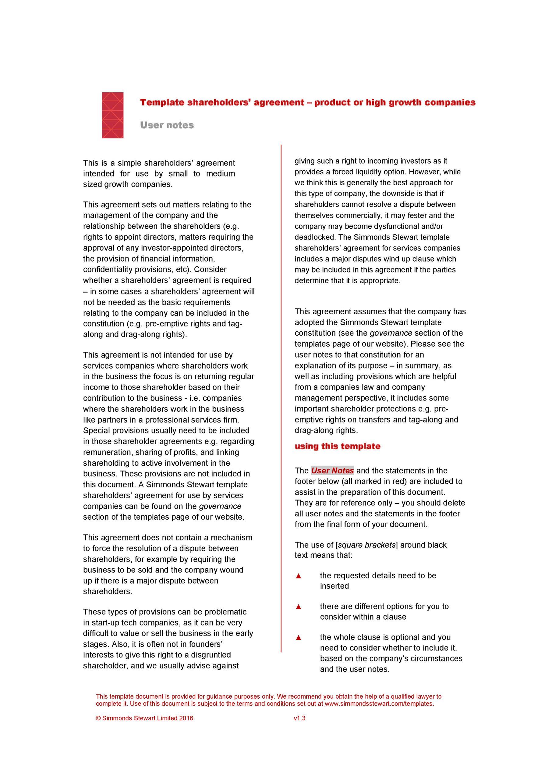 Free shareholder agreement 12