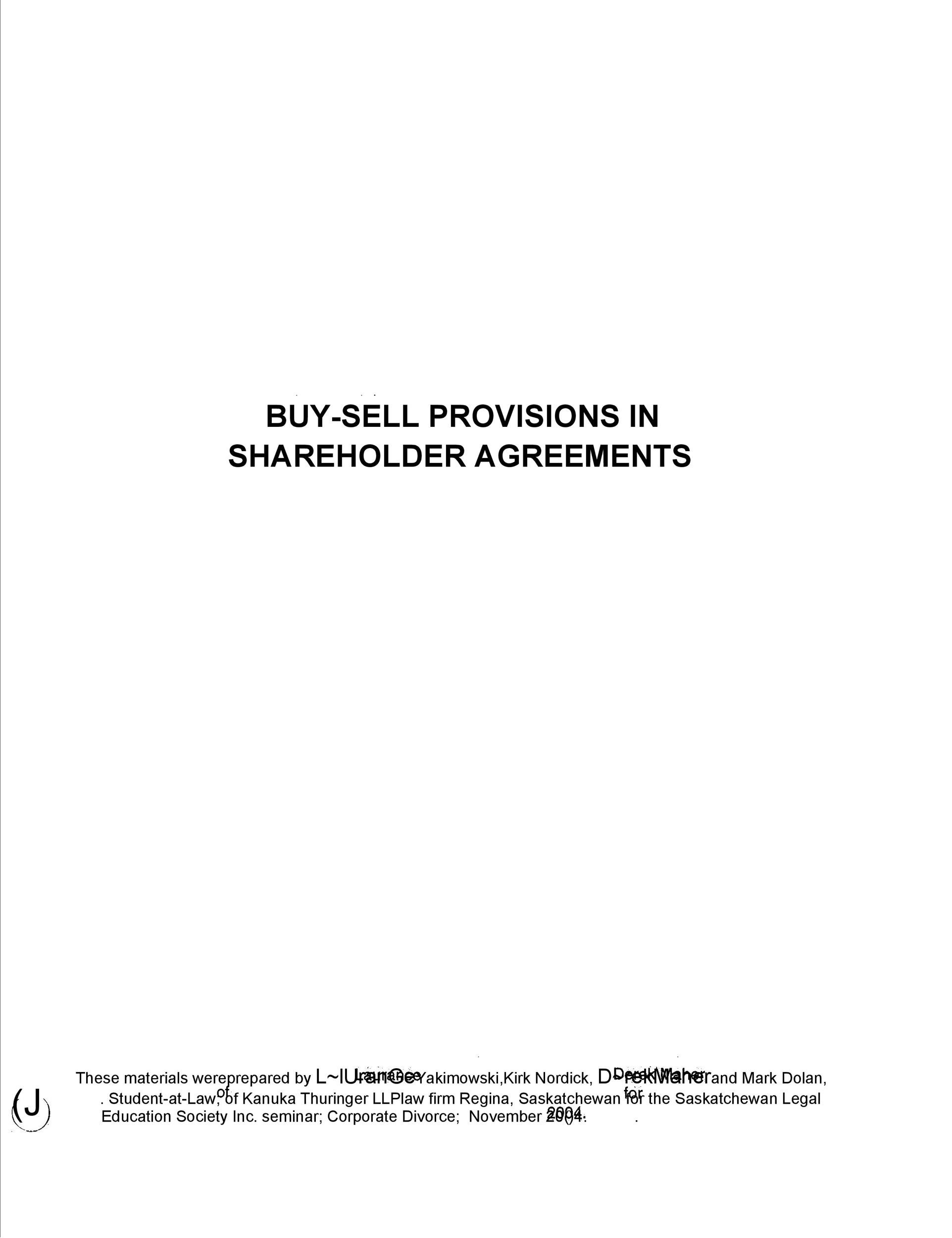 Free shareholder agreement 25
