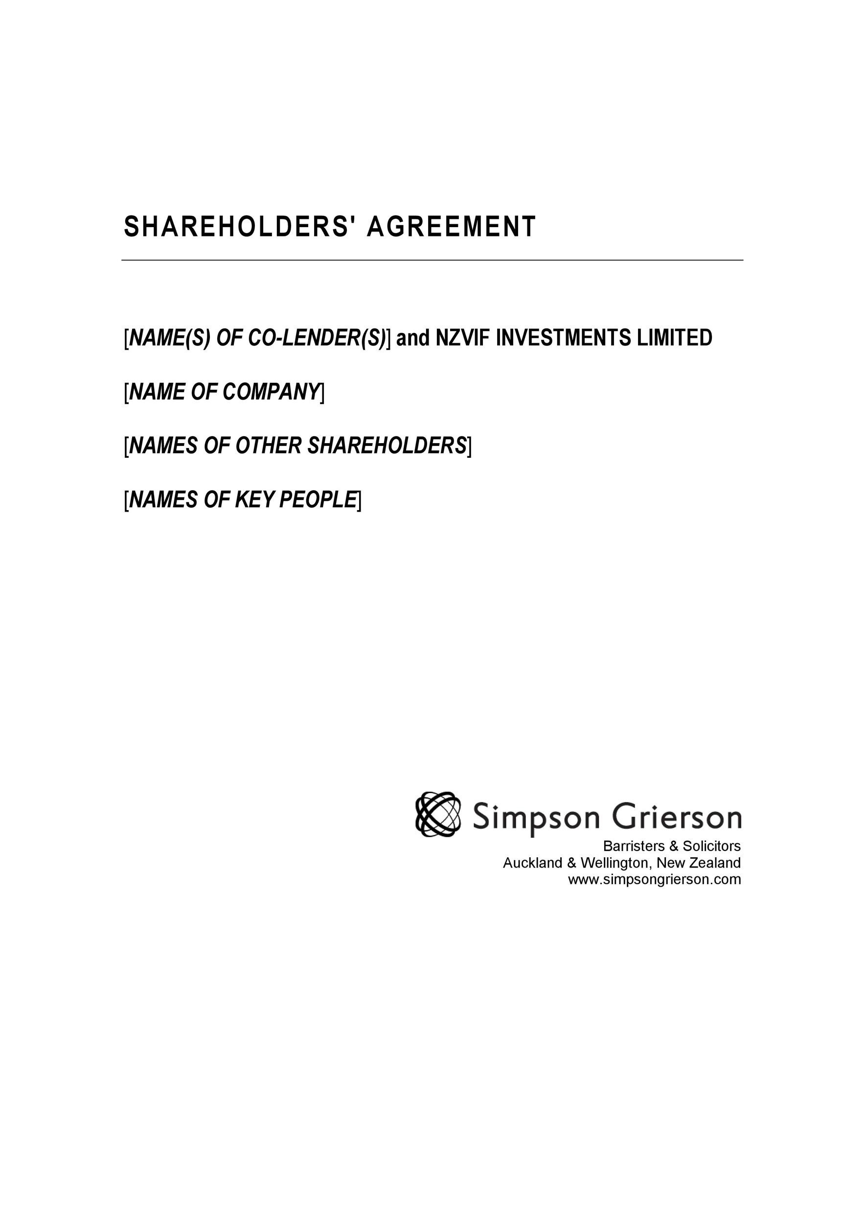 Free shareholder agreement 28