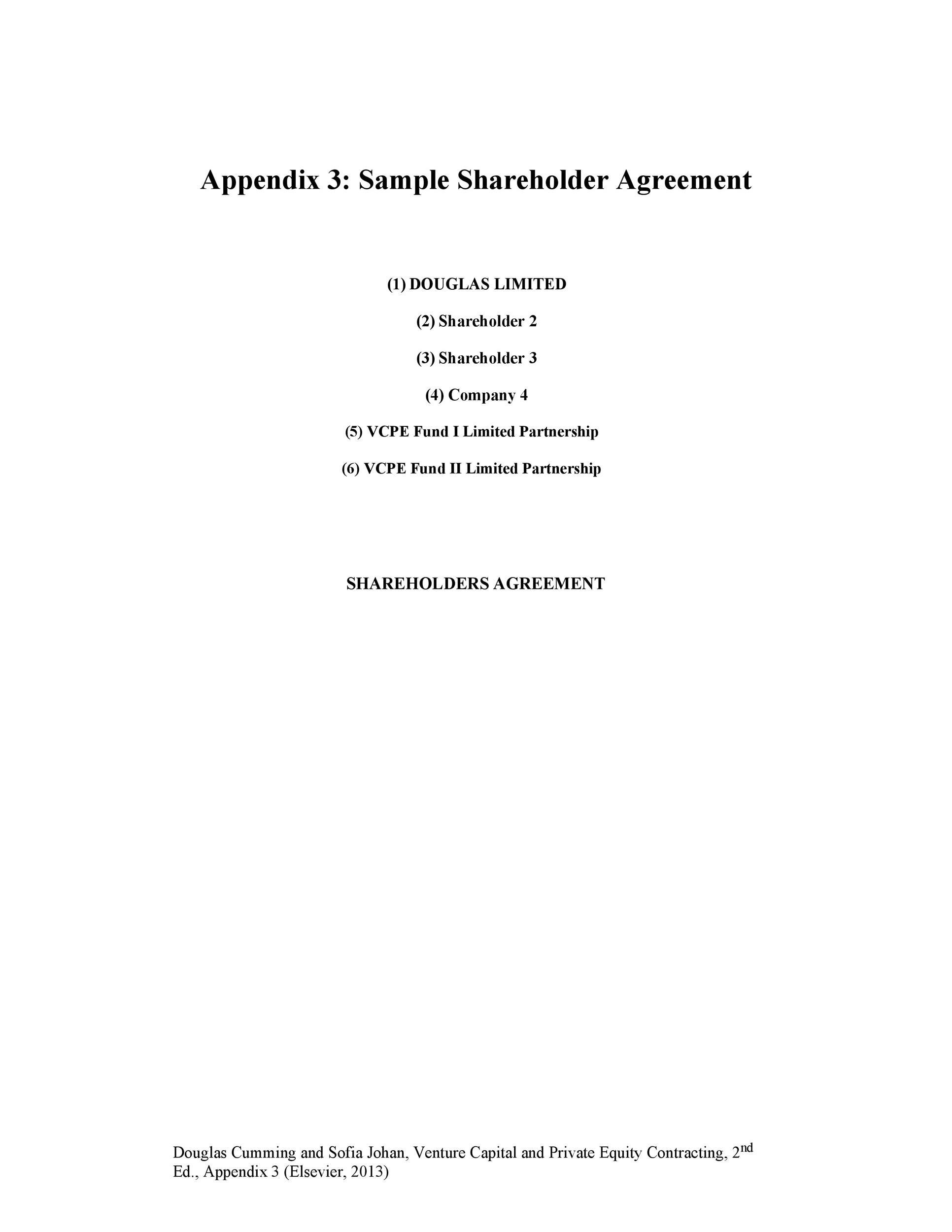 Free shareholder agreement 33