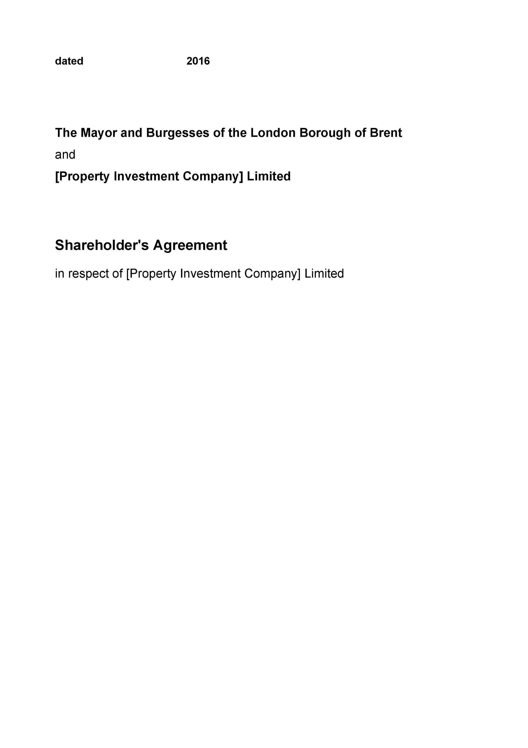 Free shareholder agreement 36