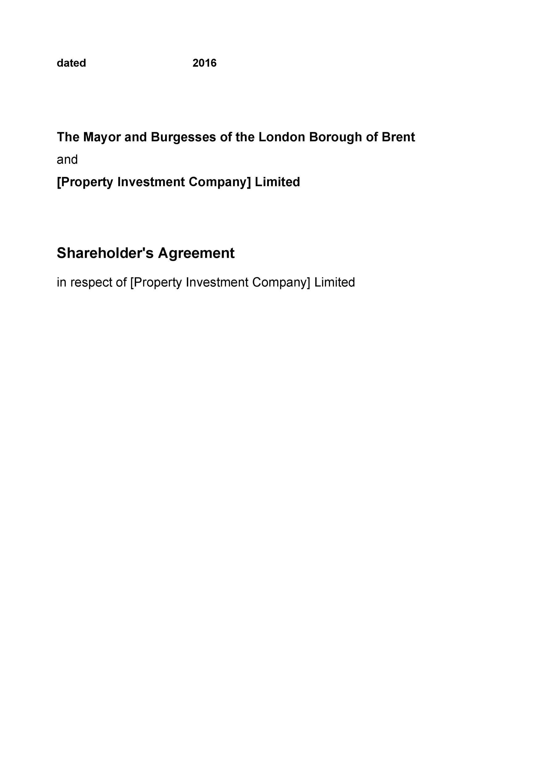 Free shareholder agreement 36