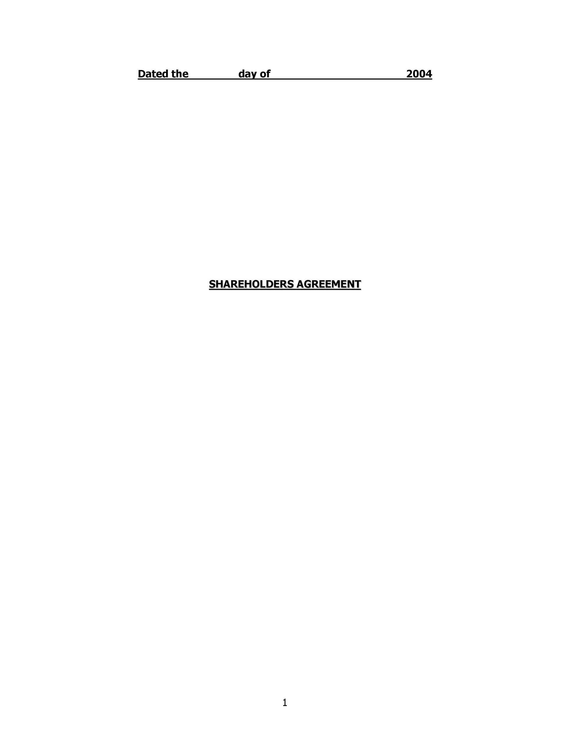 Free shareholder agreement 44
