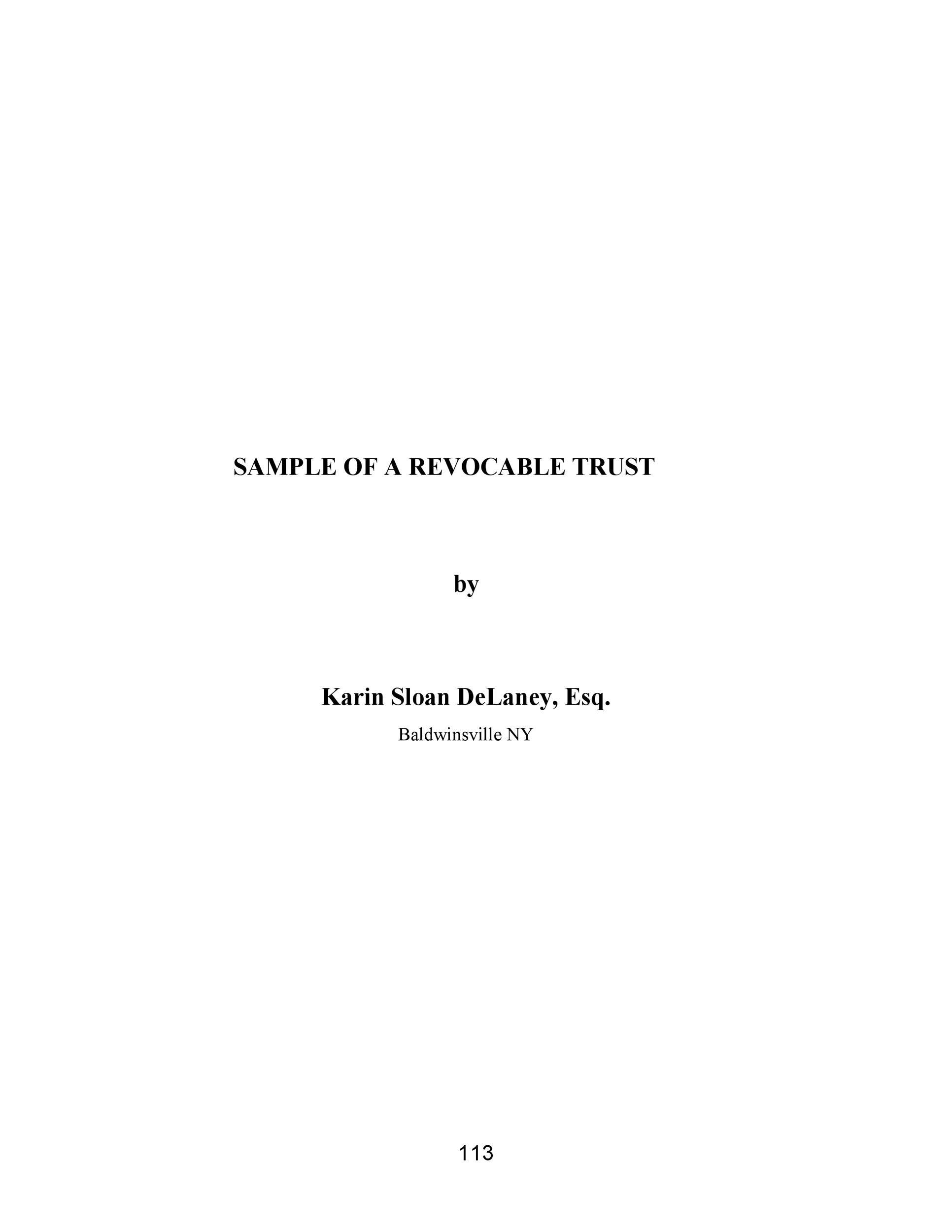 Free trust agreement 06