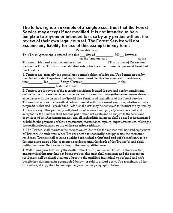 Free trust agreement 08