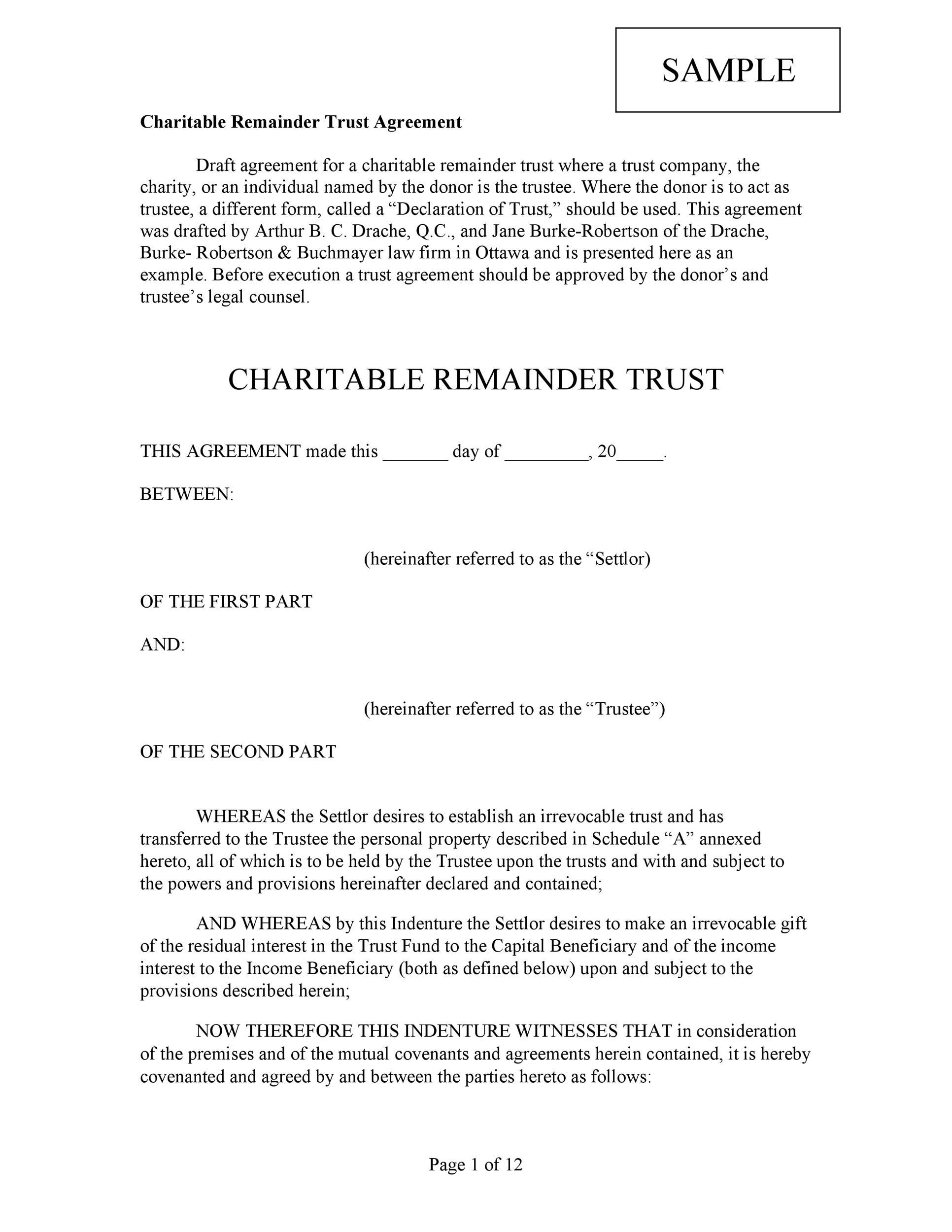 Free trust agreement 09