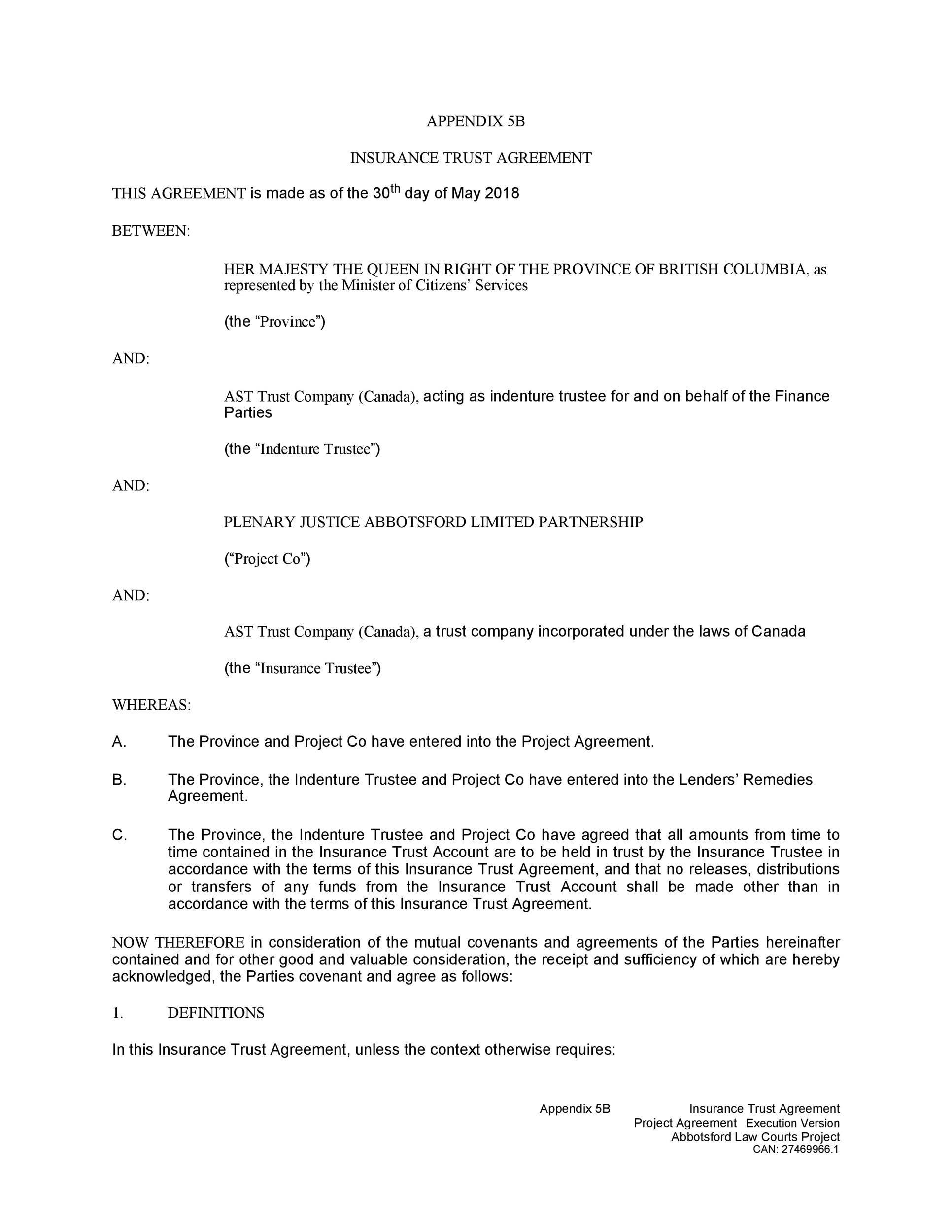 Free trust agreement 12
