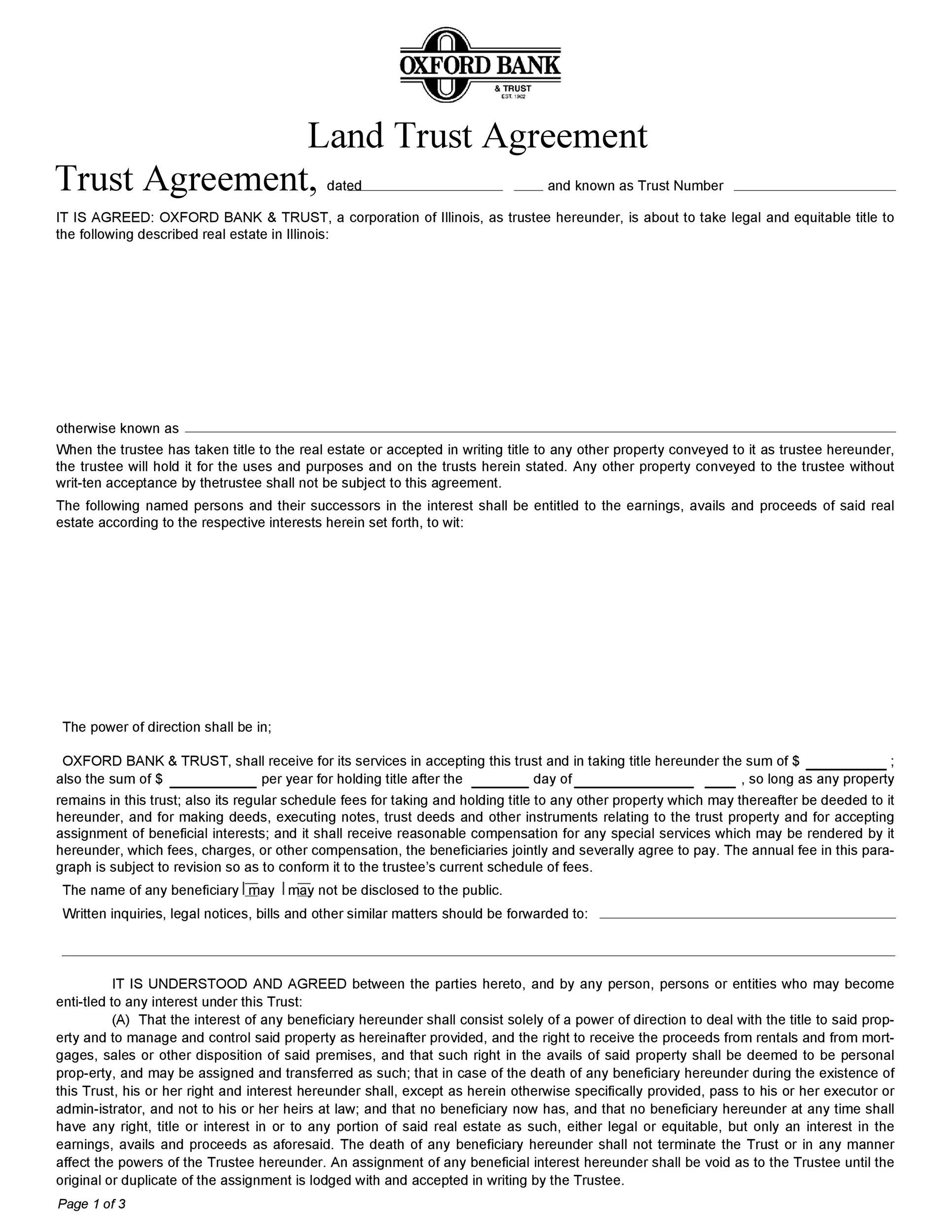 Free trust agreement 15