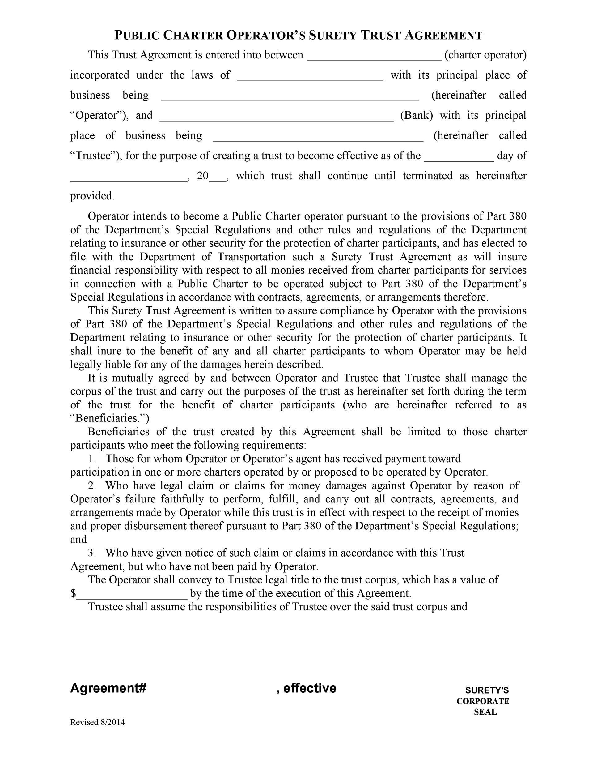 Free trust agreement 19