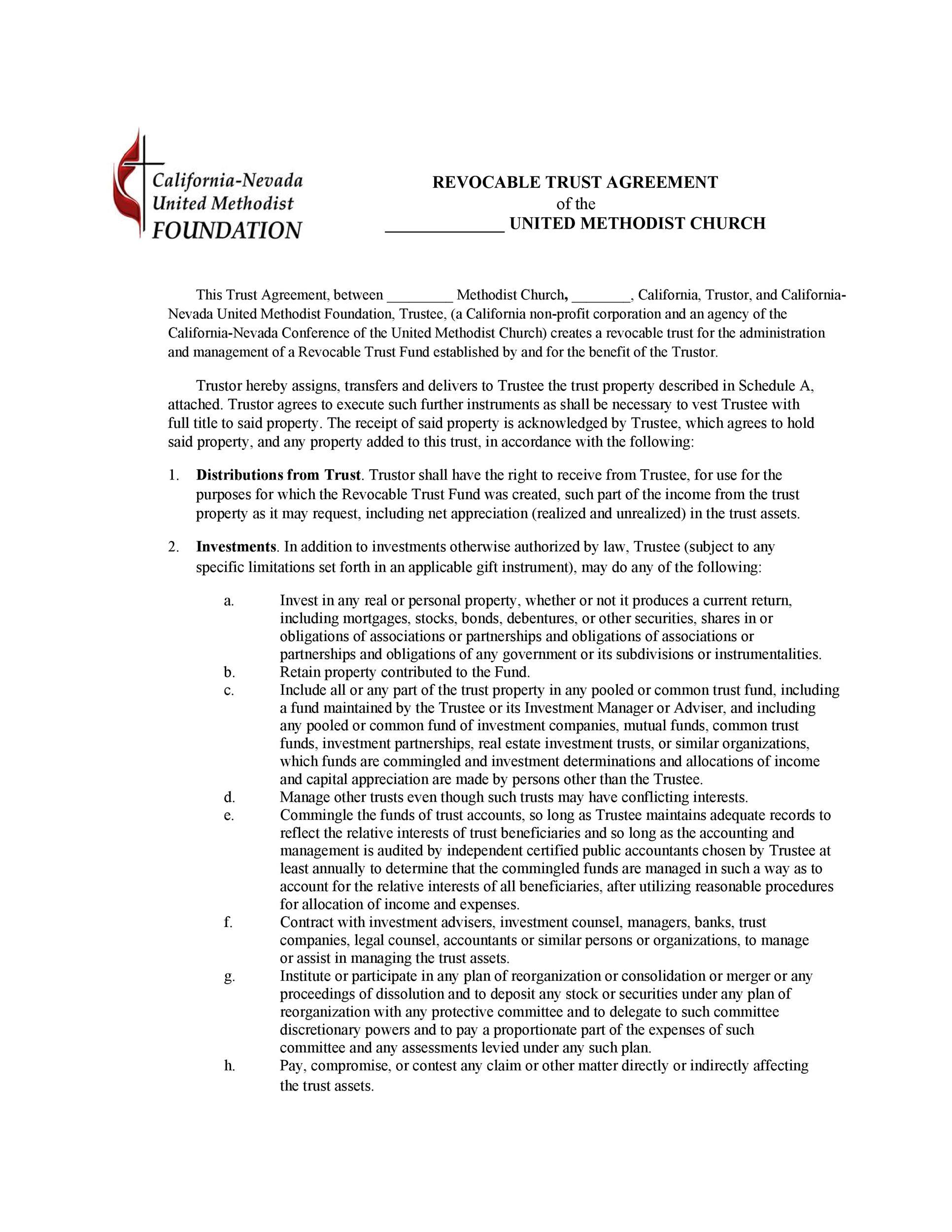 Free trust agreement 20