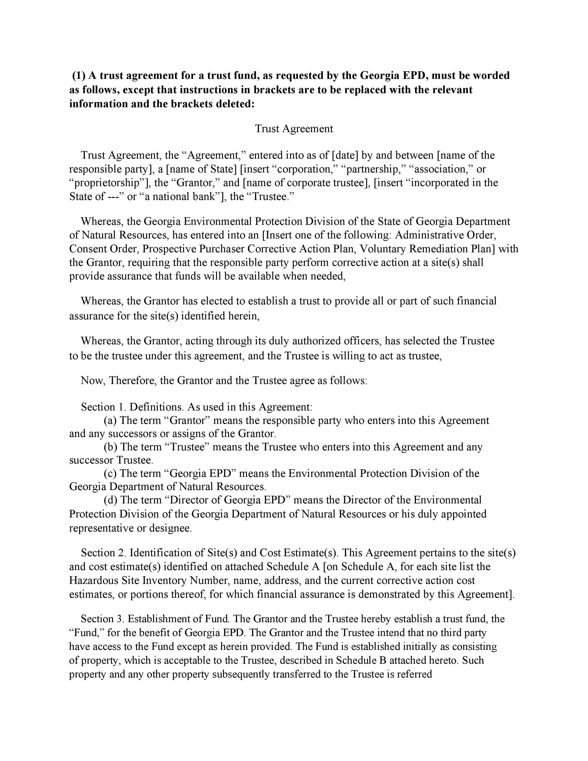 Free trust agreement 23