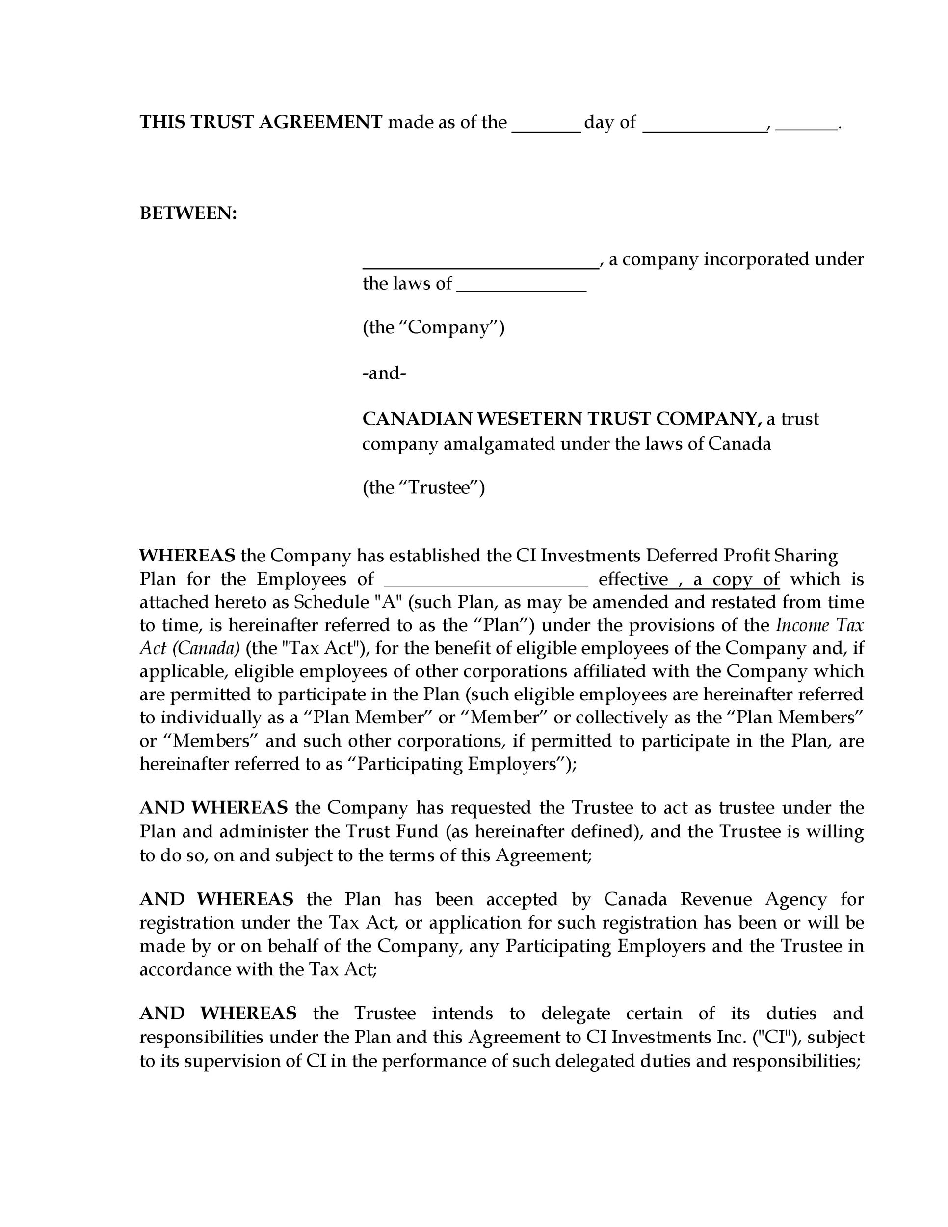 Free trust agreement 24