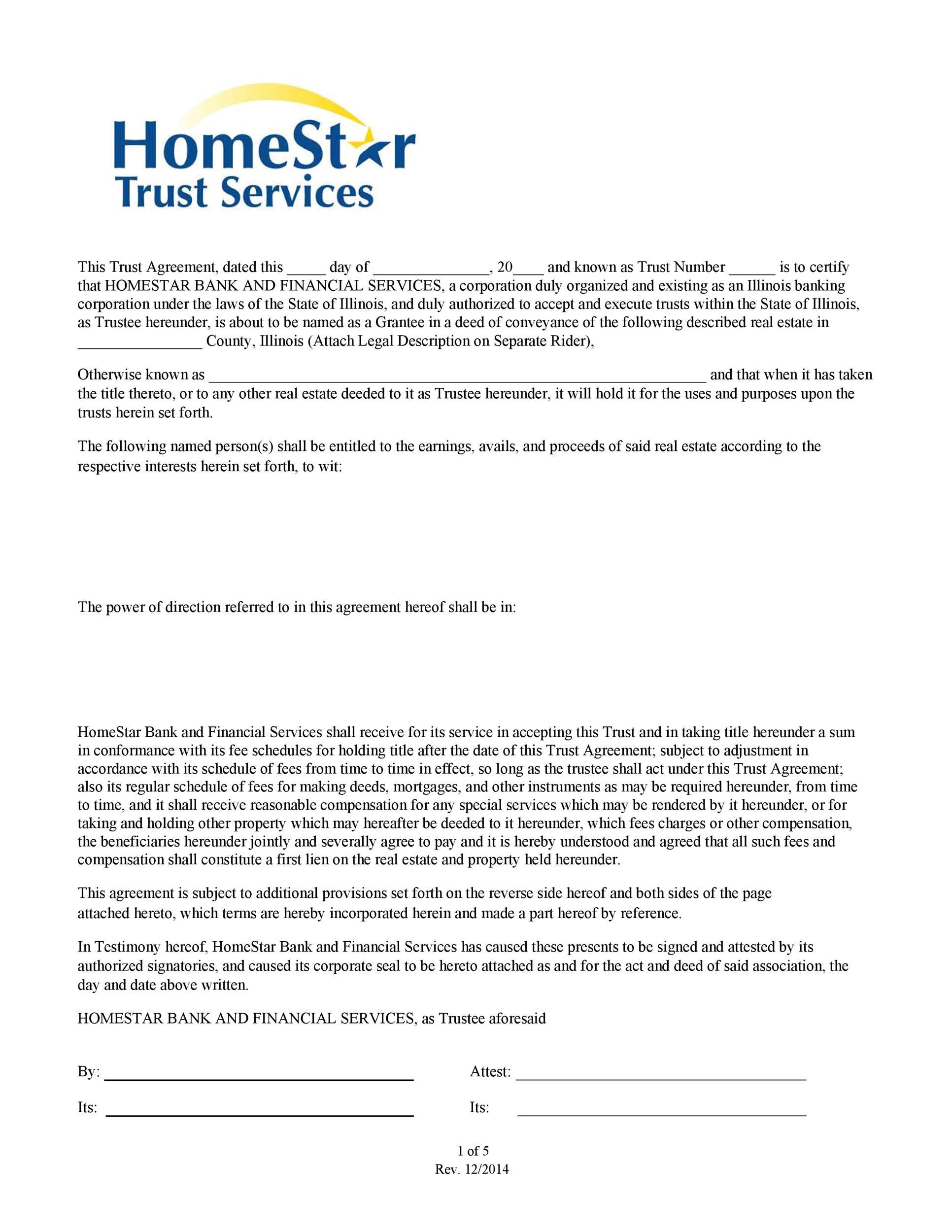Free trust agreement 25