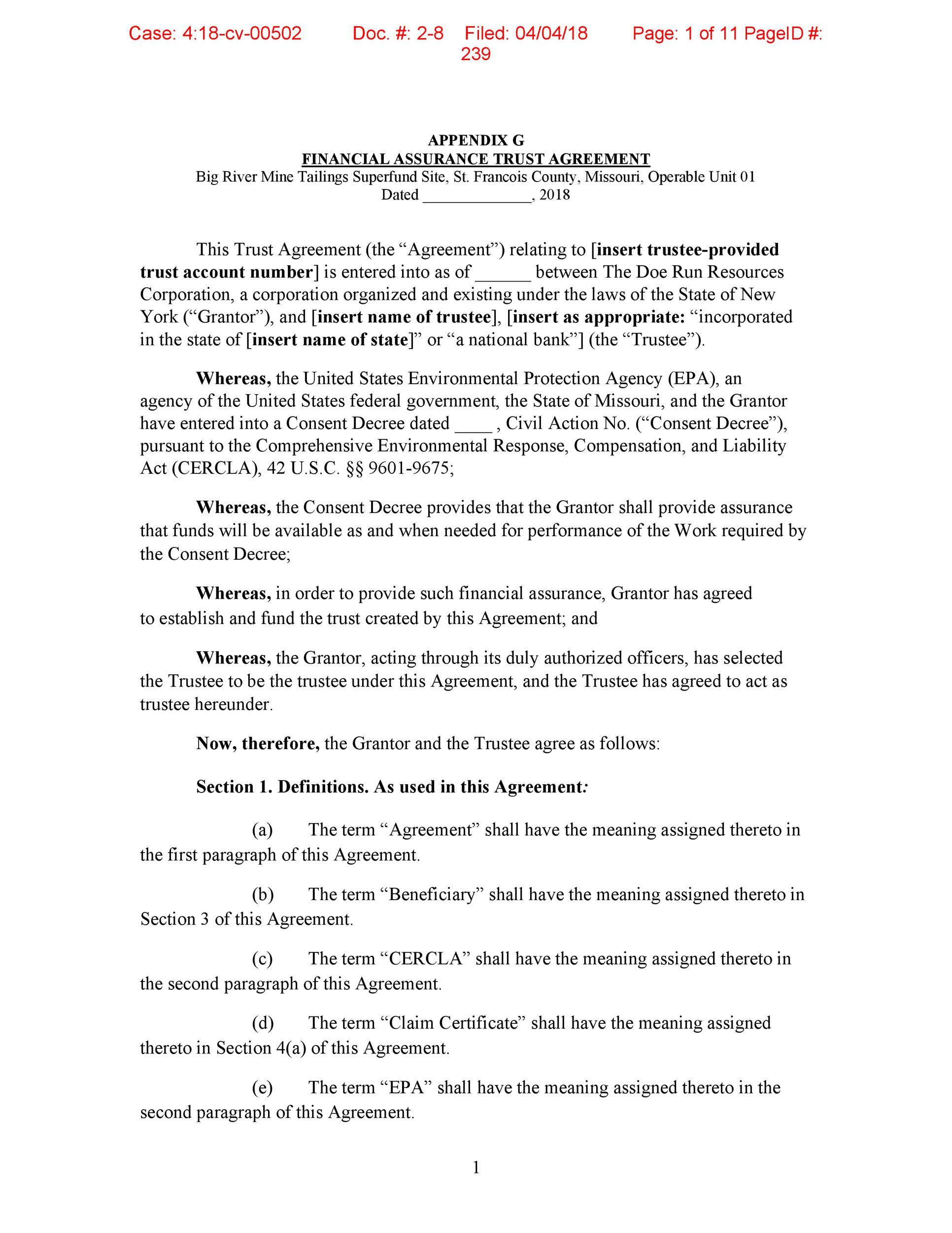 Free trust agreement 28