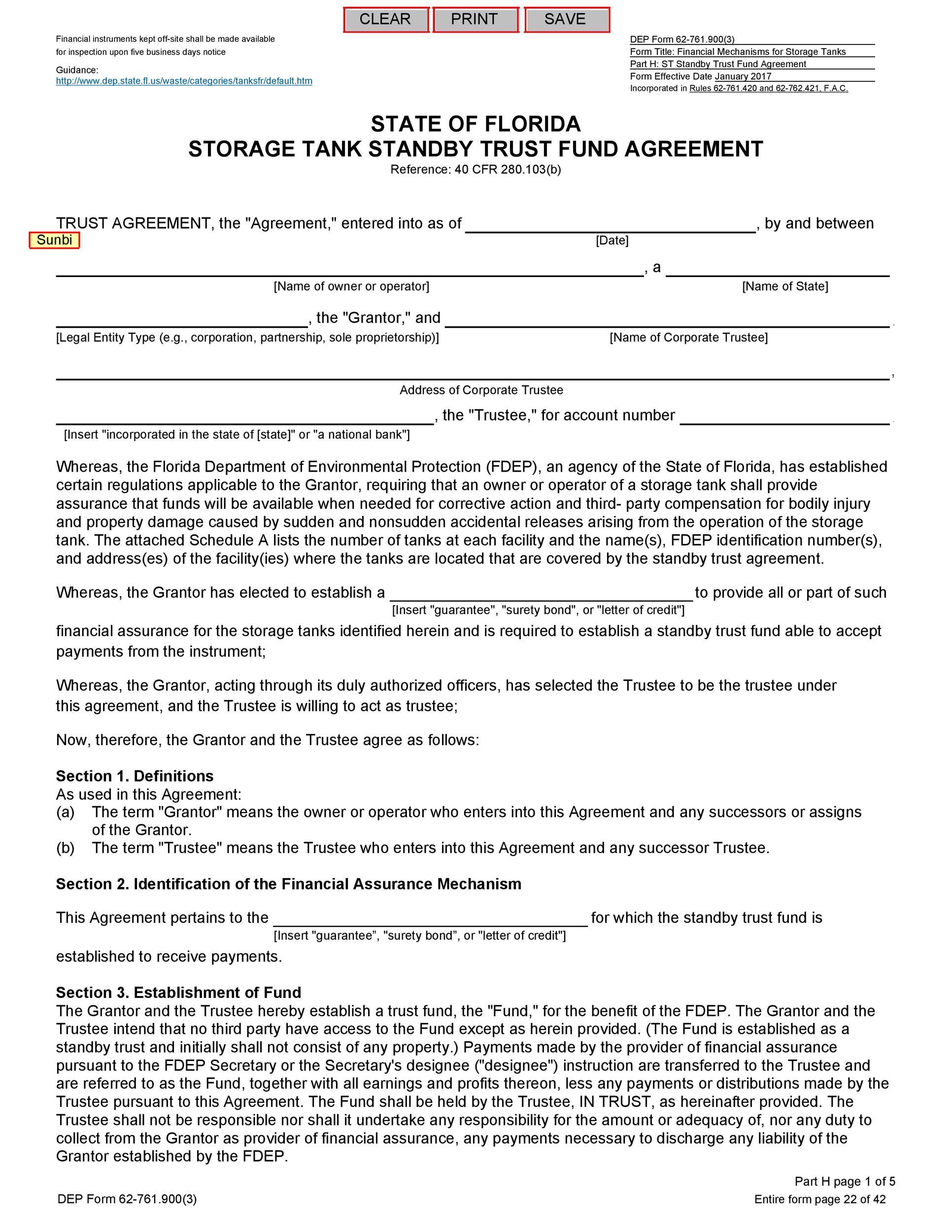 Free trust agreement 32