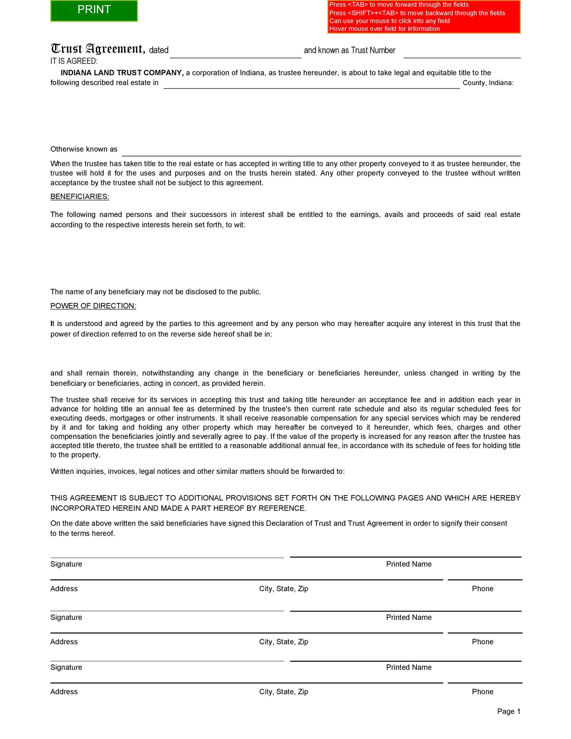 Free trust agreement 33