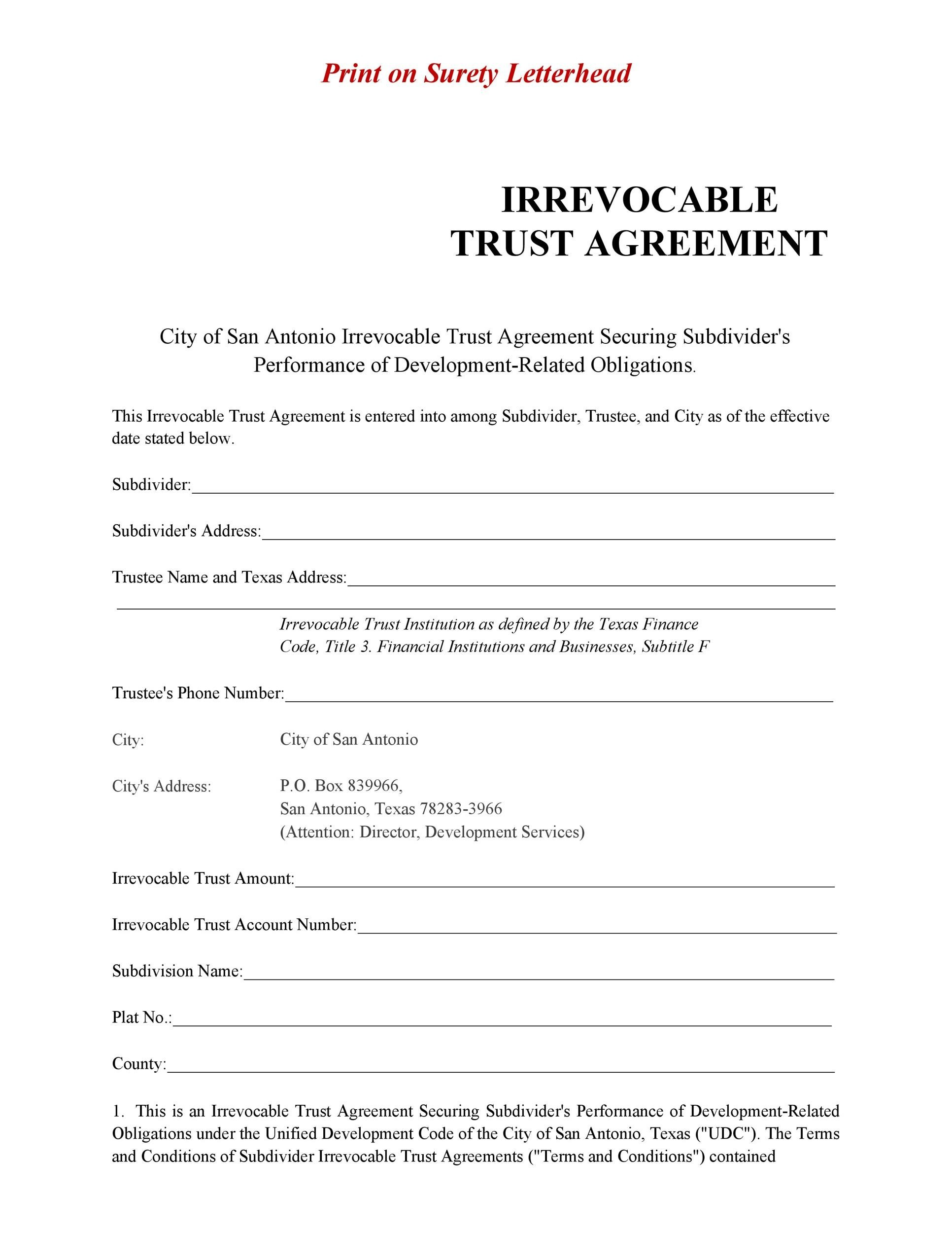 Free trust agreement 46