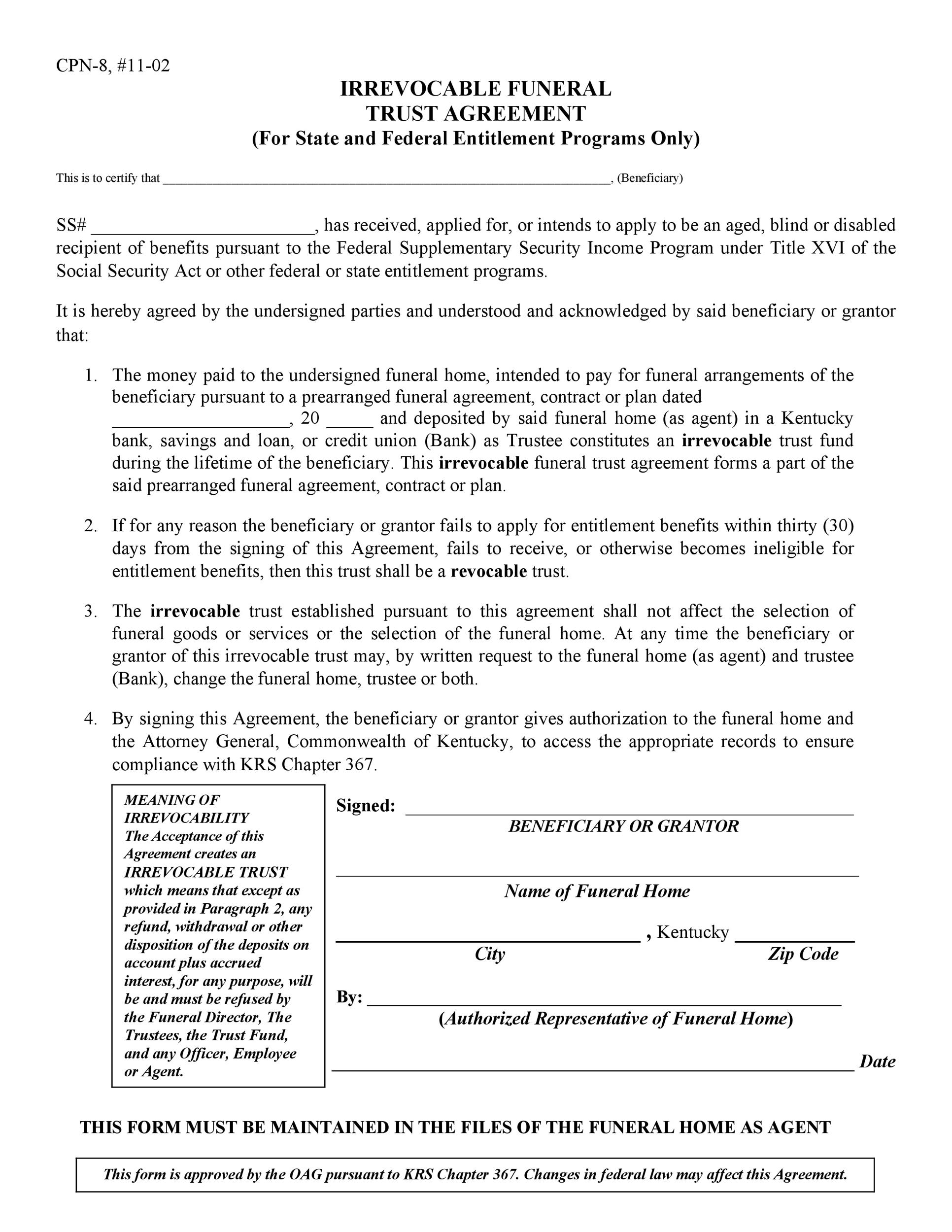 Free trust agreement 47