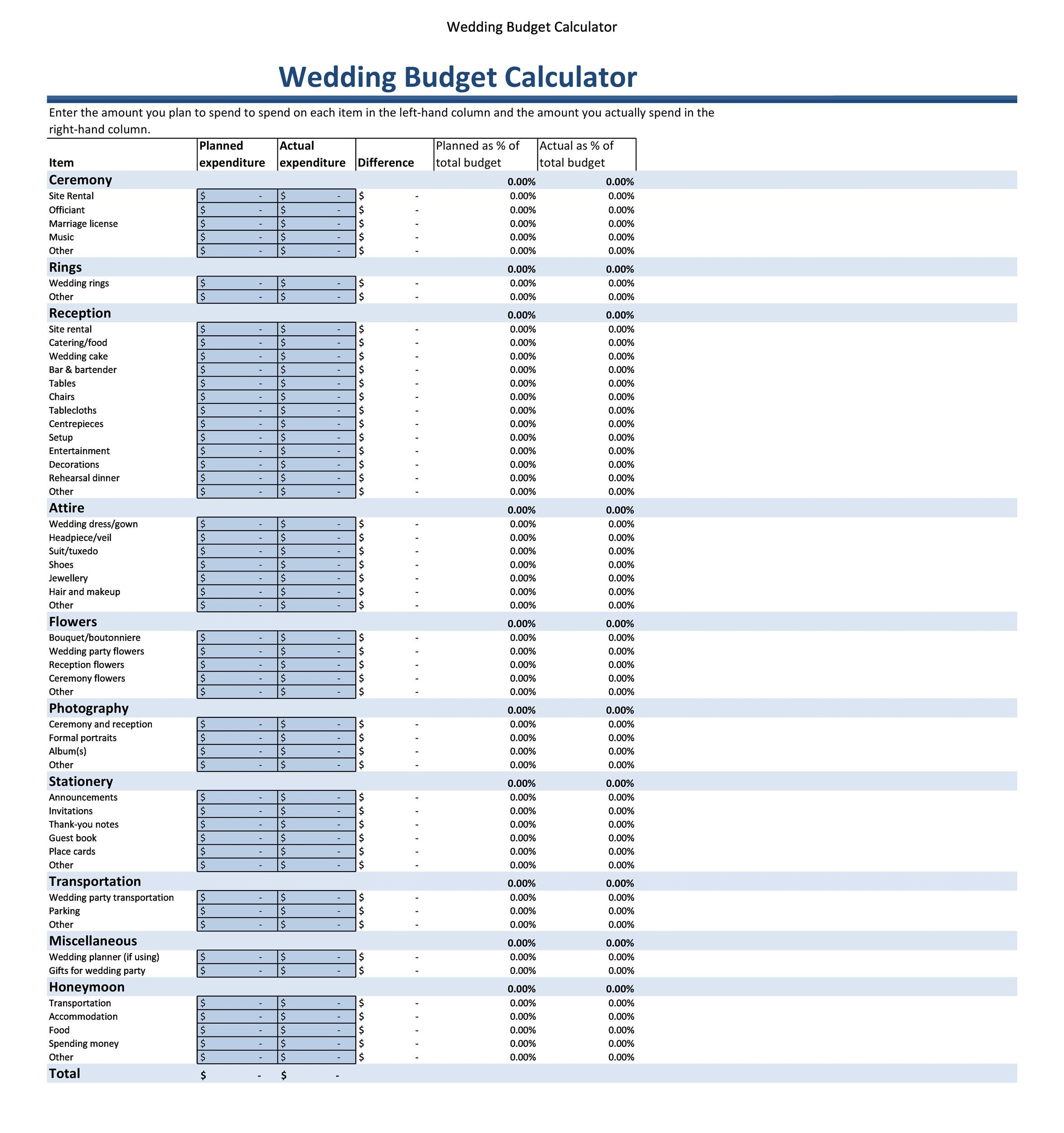 38 Great Wedding Budget Spreadsheets Tips ᐅ Template Lab