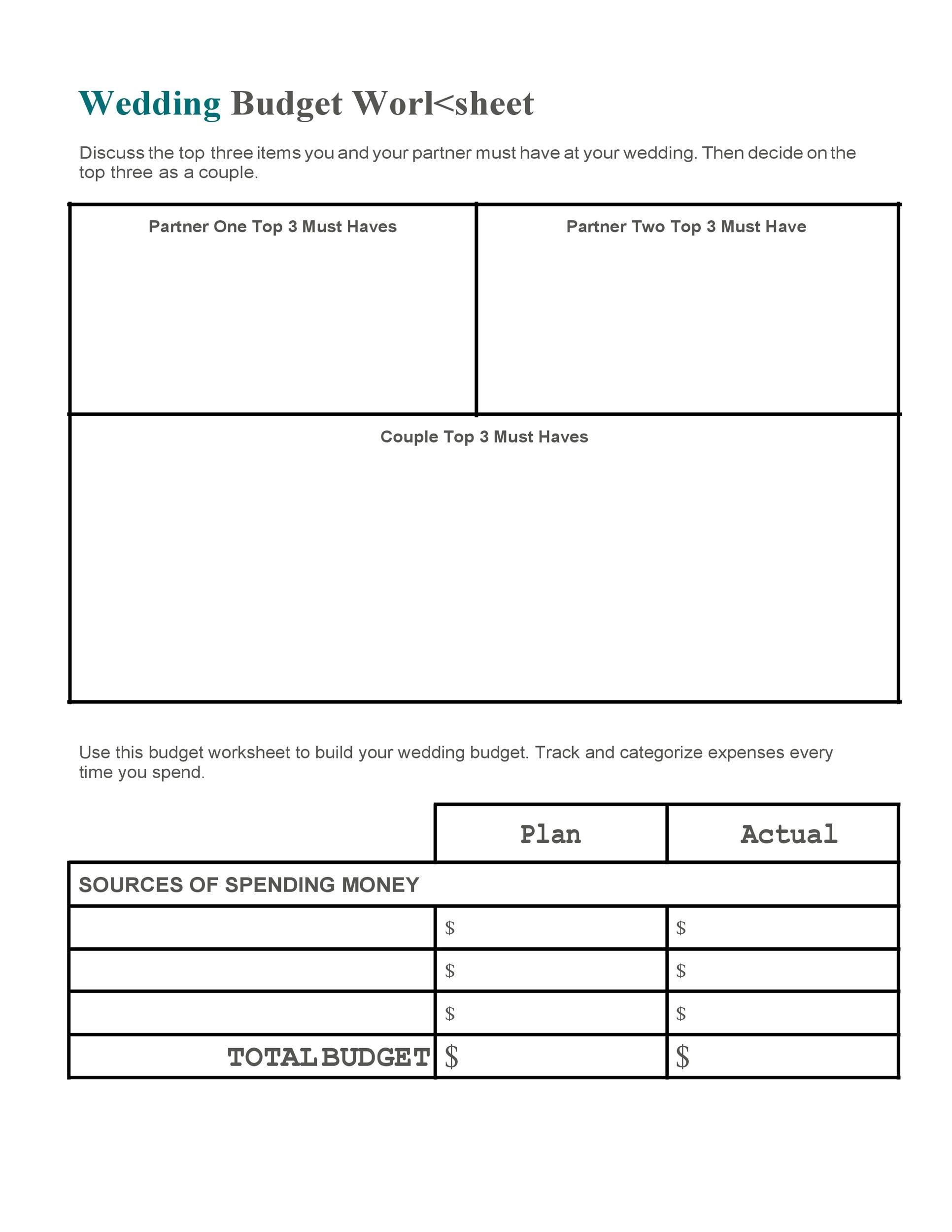 Free weeding budget spreadsheet 35
