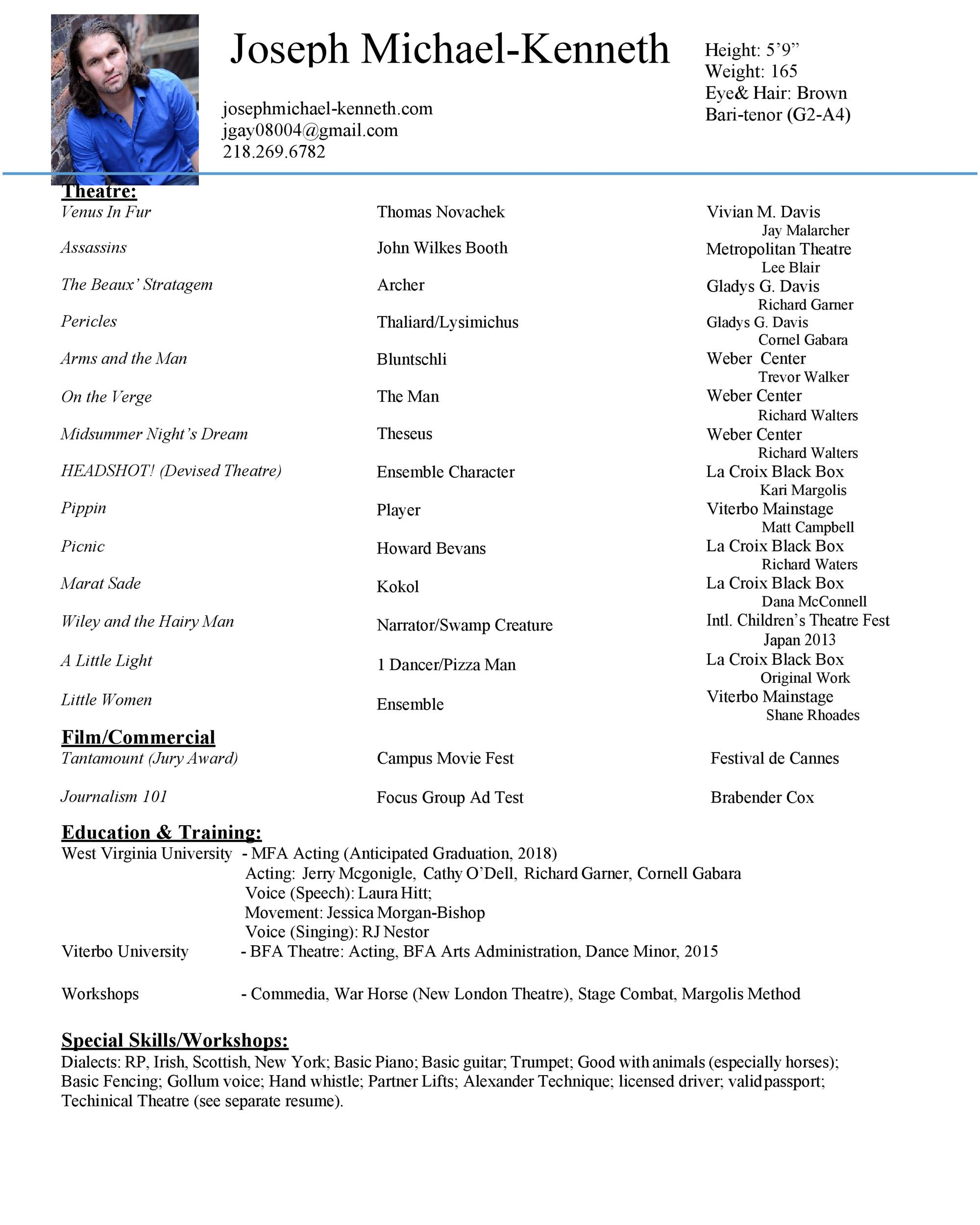 Free acting resume template 19