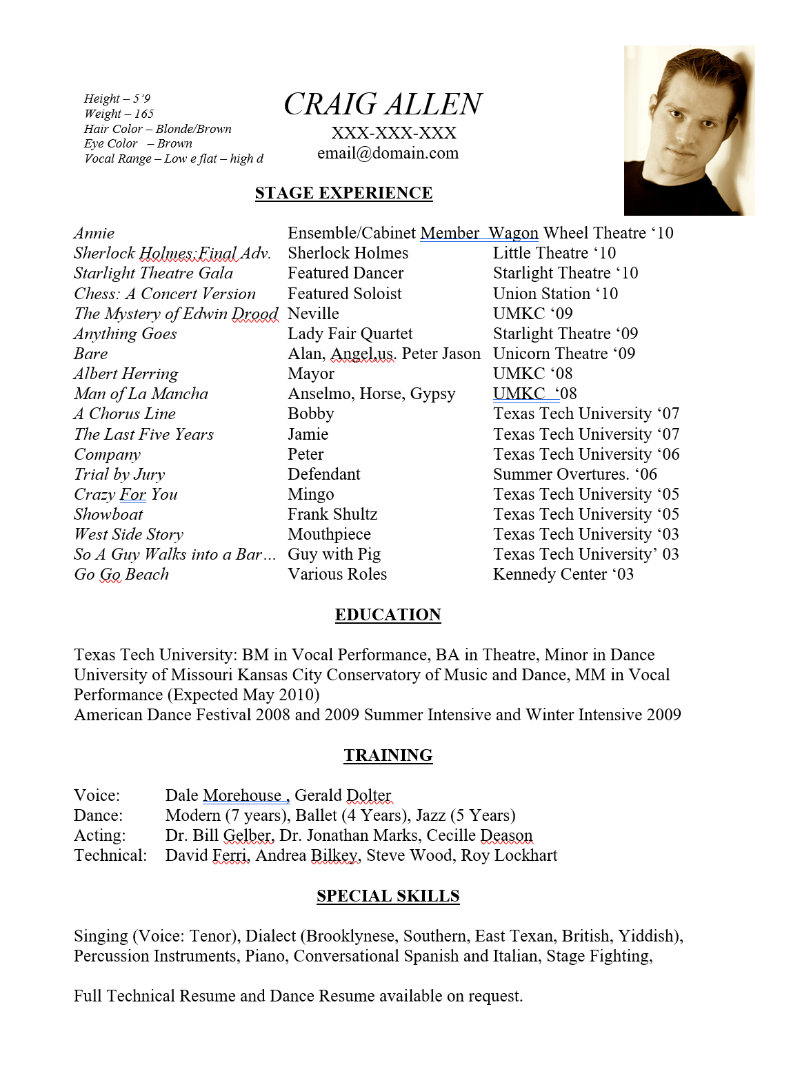 Free acting resume template 24