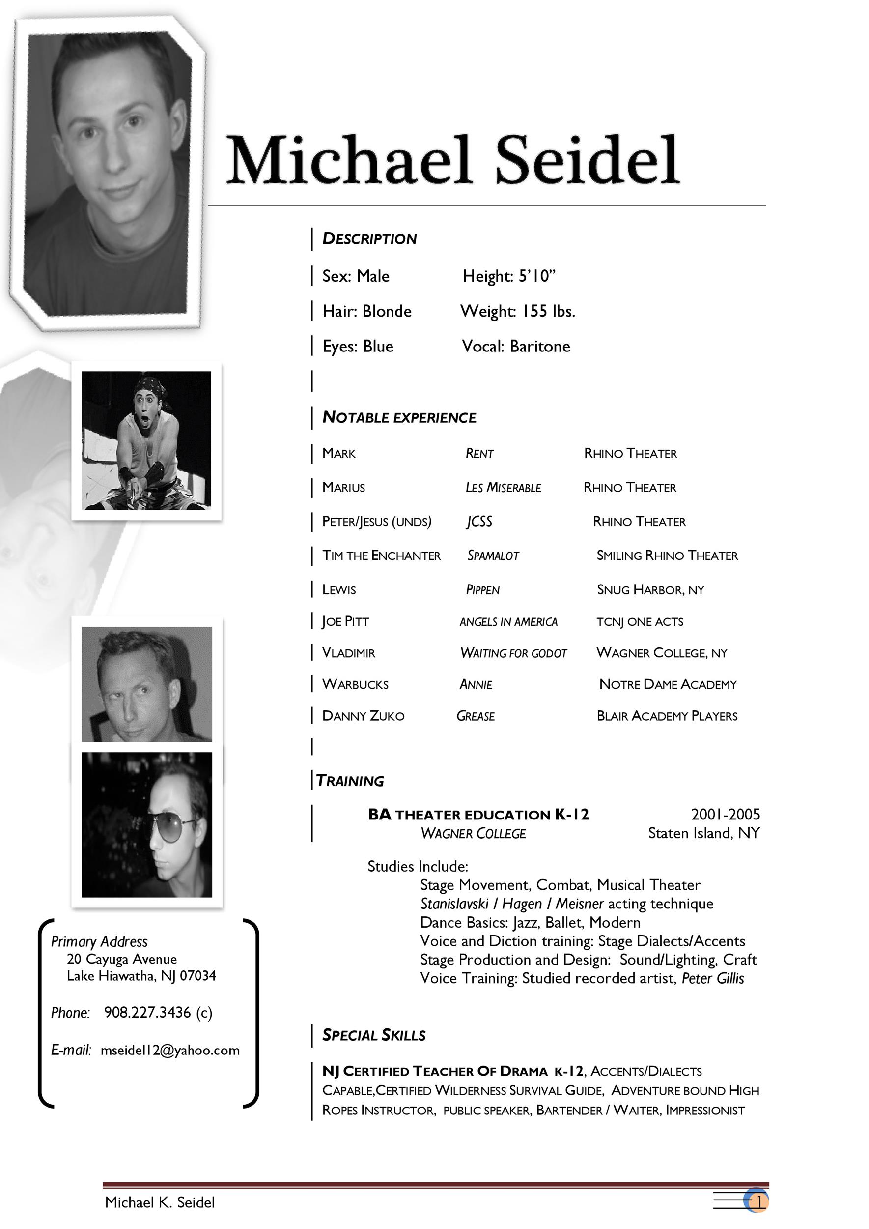 Free acting resume template 29
