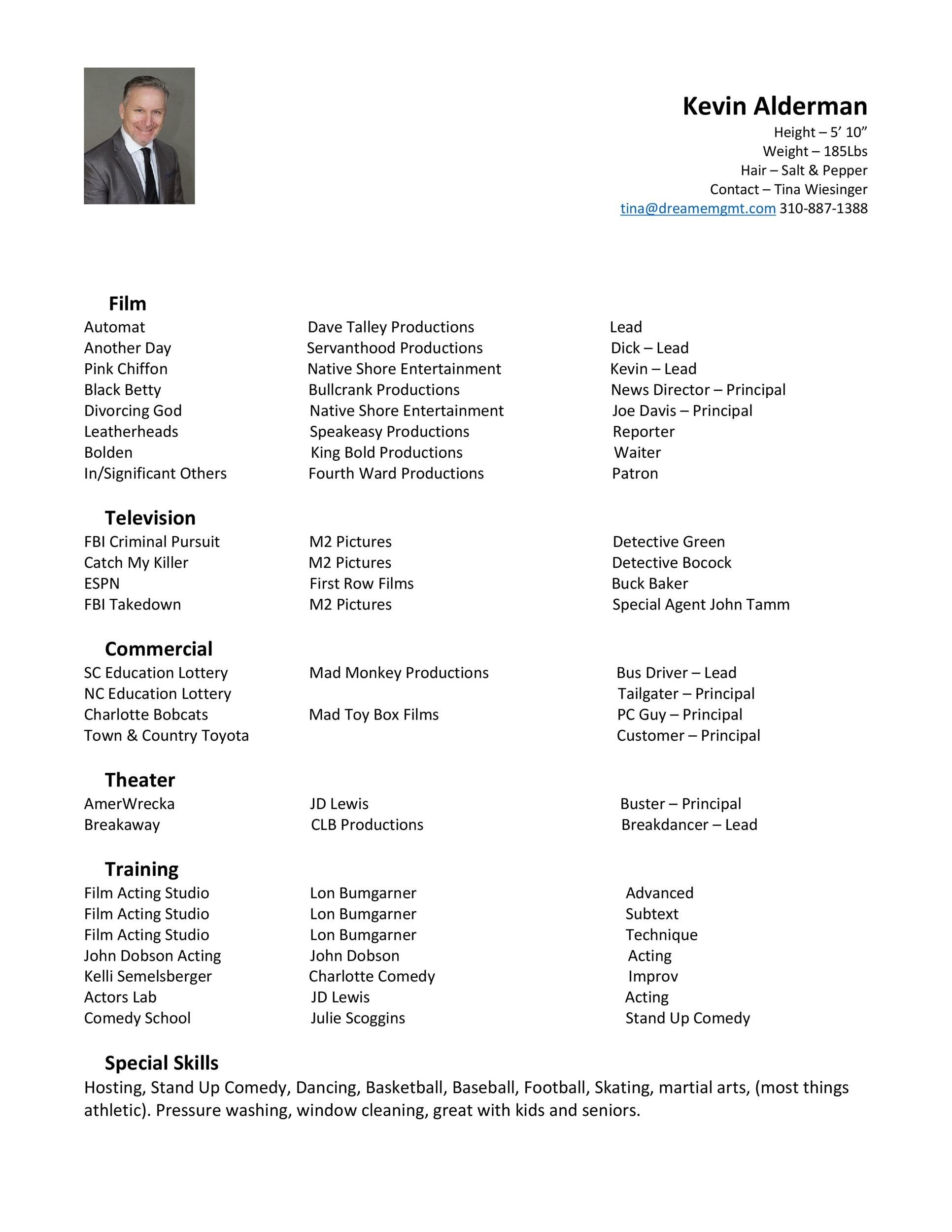 Free acting resume template 32