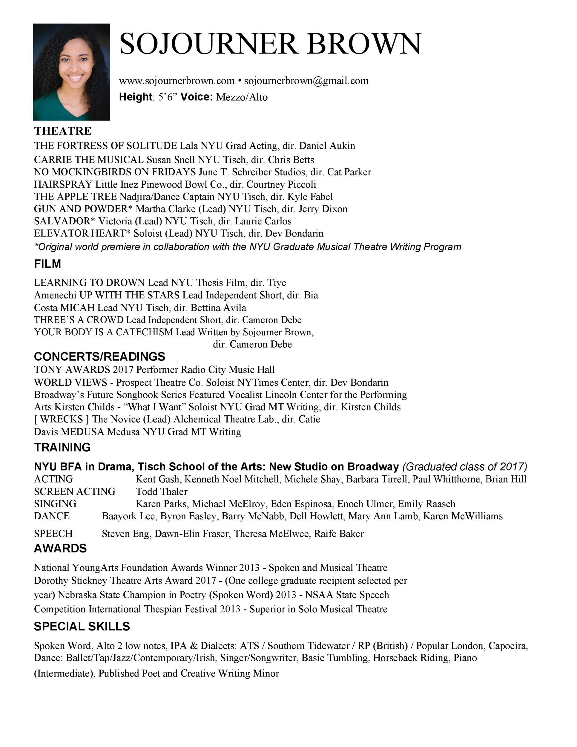 Free acting resume template 33