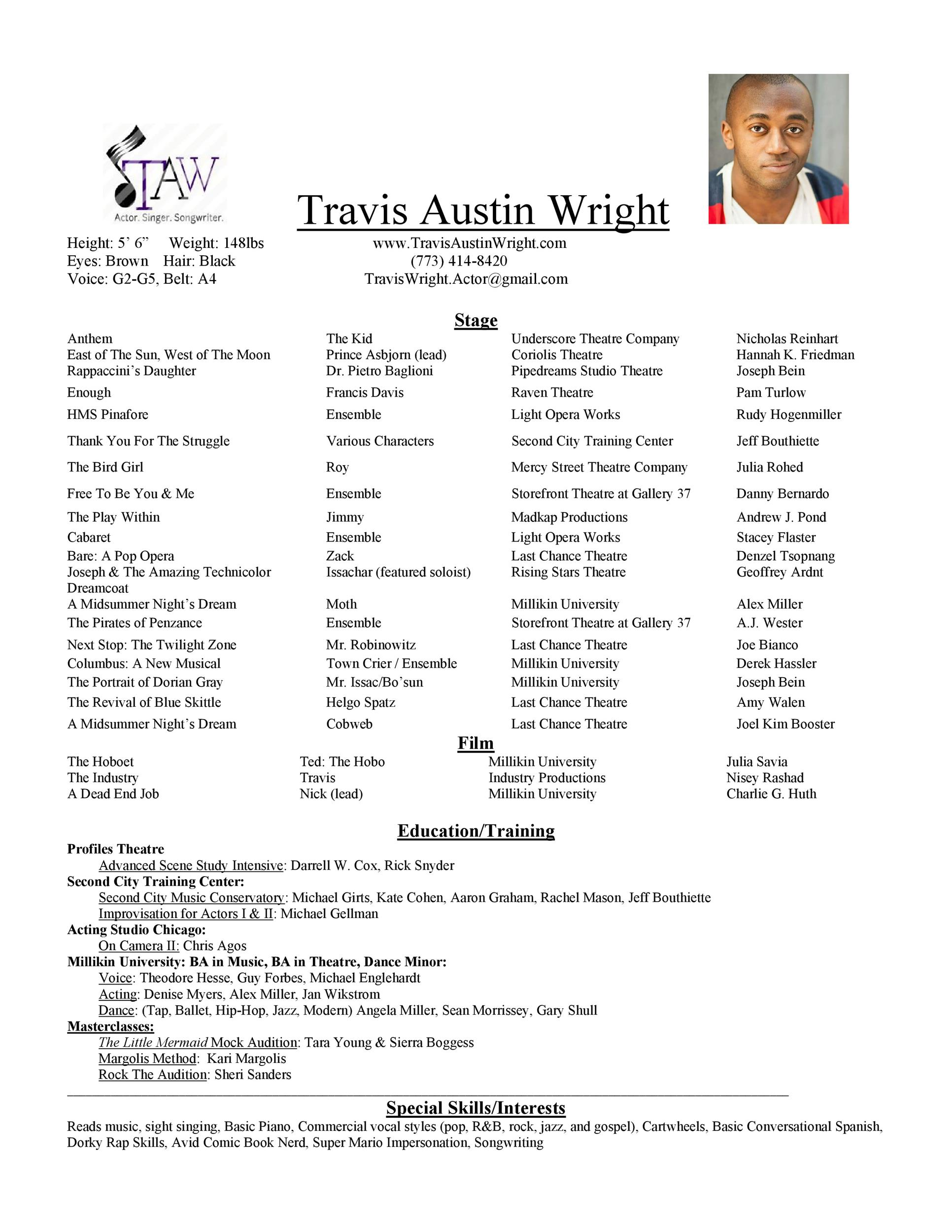 Free acting resume template 40